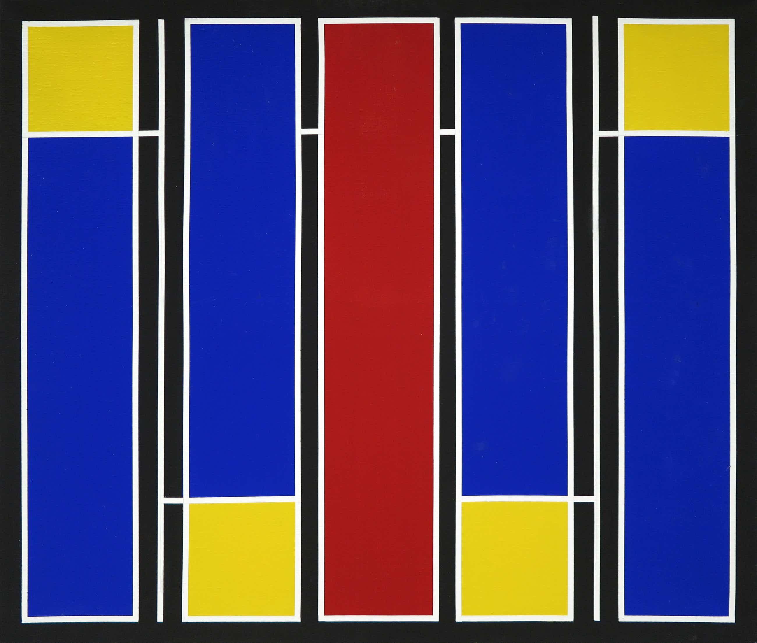 Siep van den Berg - Olieverf en potlood op doek, Compositie IV-27 (Groot) kopen? Bied vanaf 950!
