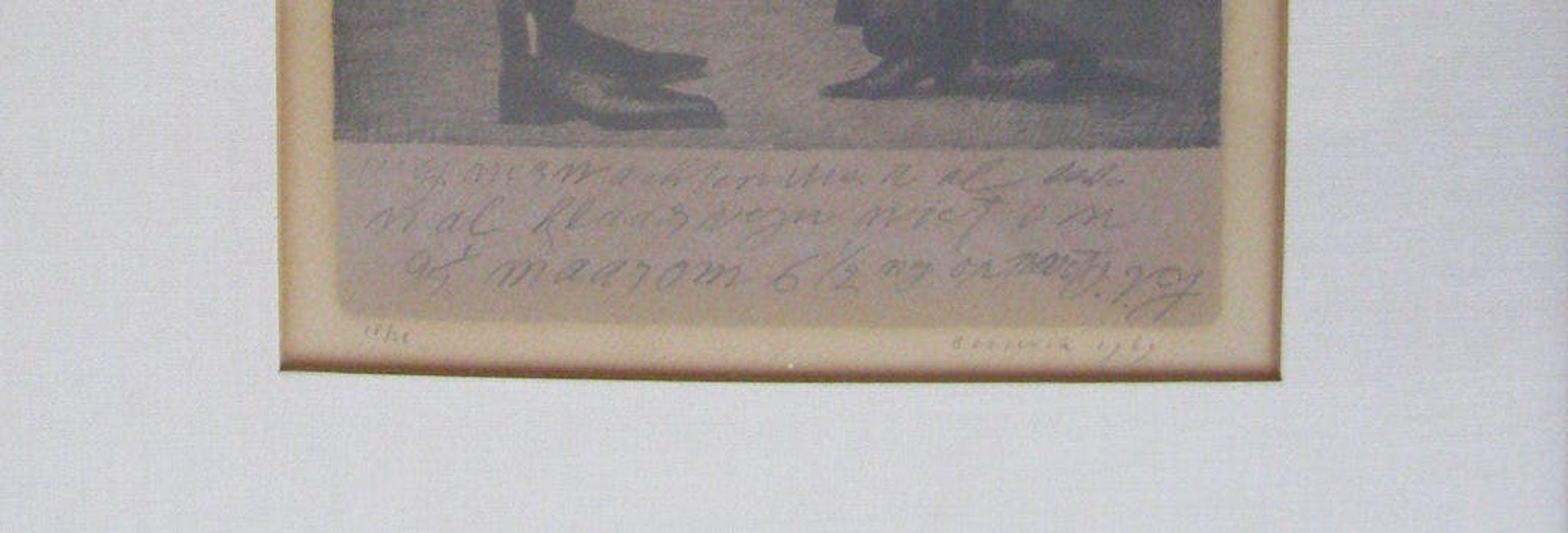 Herman Berserik - Hermanus Berserik, 2-kleuren litho, ontmoeting kopen? Bied vanaf 245!
