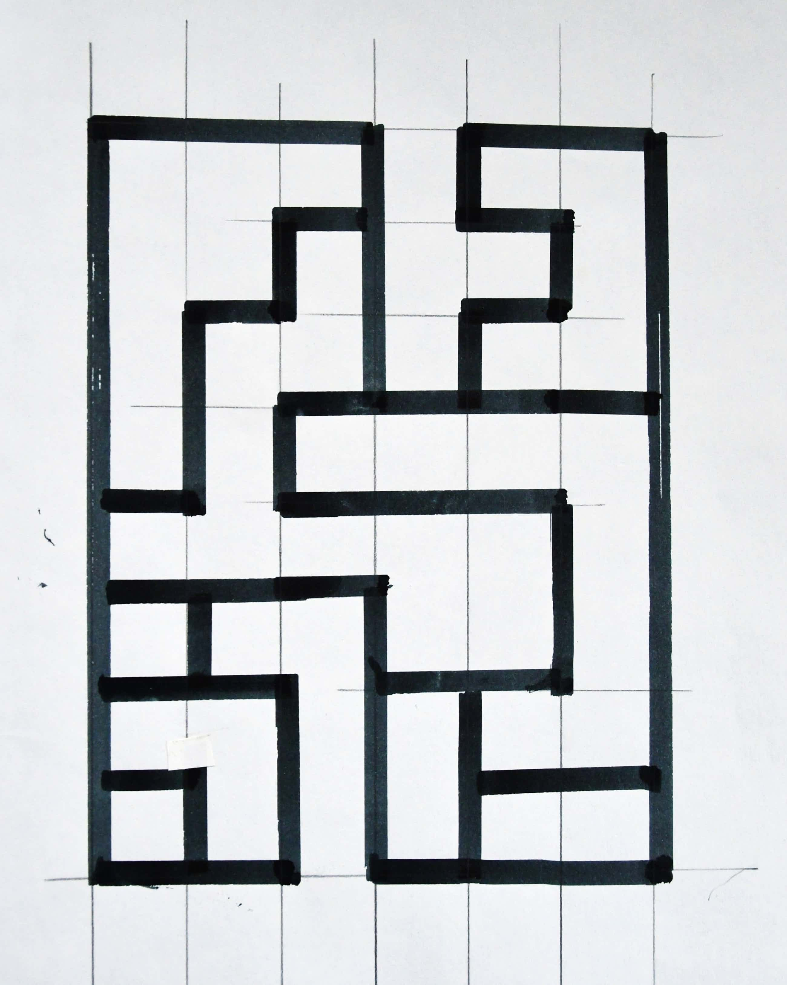 Siep van den Berg - # Constructivistische tekening in Inkt # 1992, mint kopen? Bied vanaf 39!