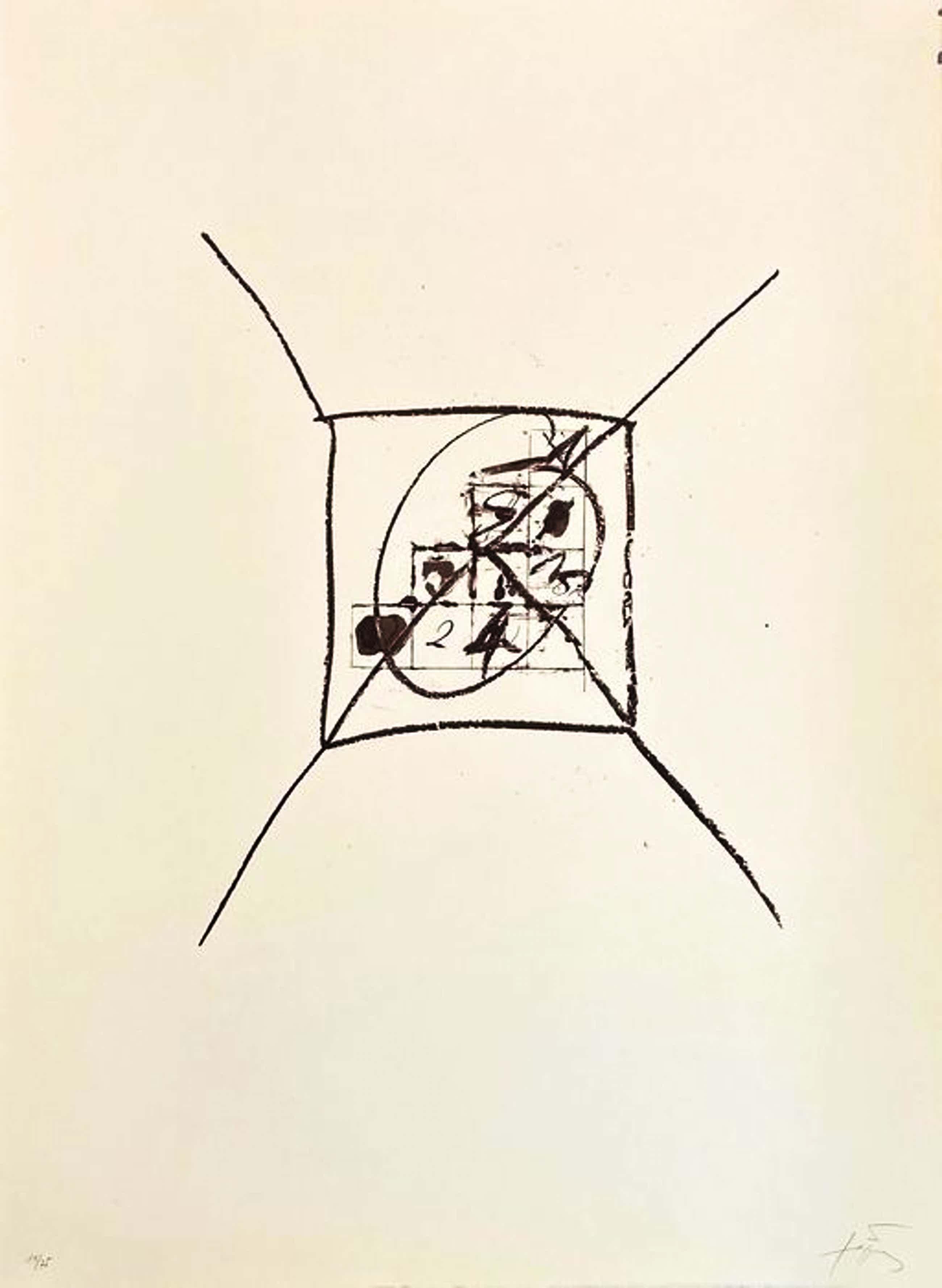 Antoni Tapies - Llambrec 9 - Handgesigneerde litho - 1975 kopen? Bied vanaf 550!