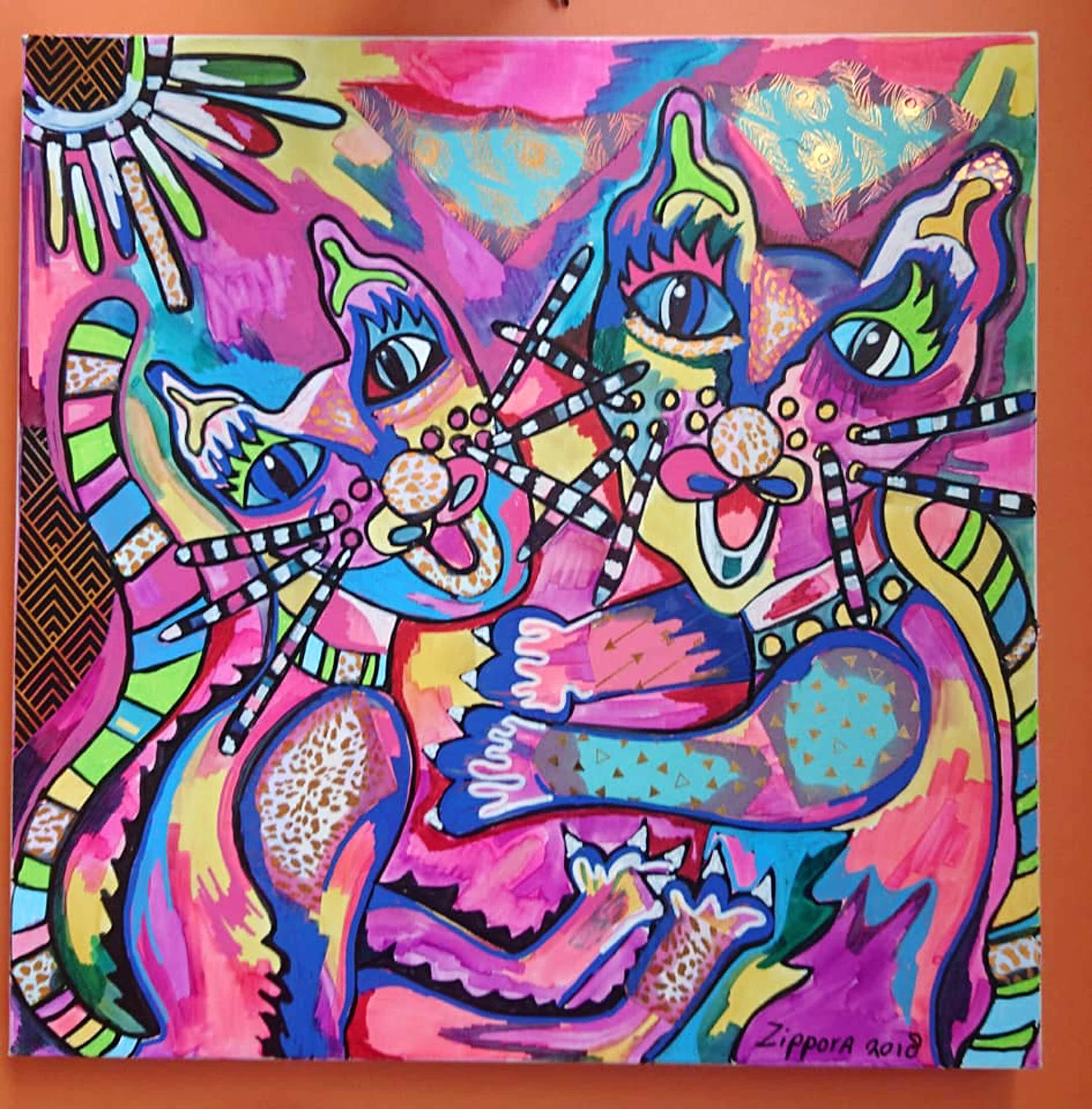 Zippora Sahanaja - Dancing Cat's van Zippora Meijer kopen? Bied vanaf 40!