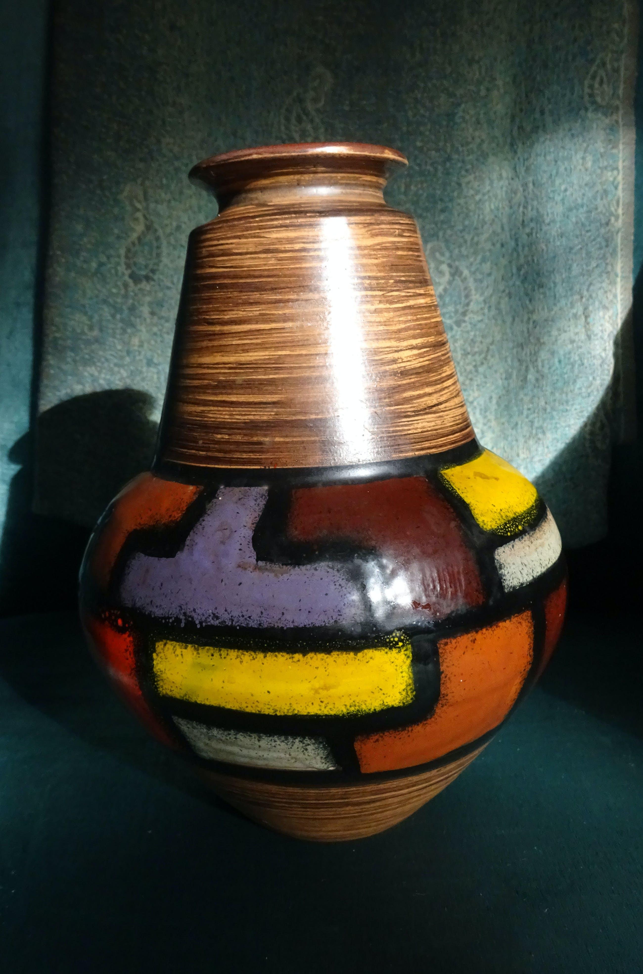 Bitossi - zeldzame vaas: Bitossi voor Raymor Ceramic Polychrome geometrische vormen kopen? Bied vanaf 95!