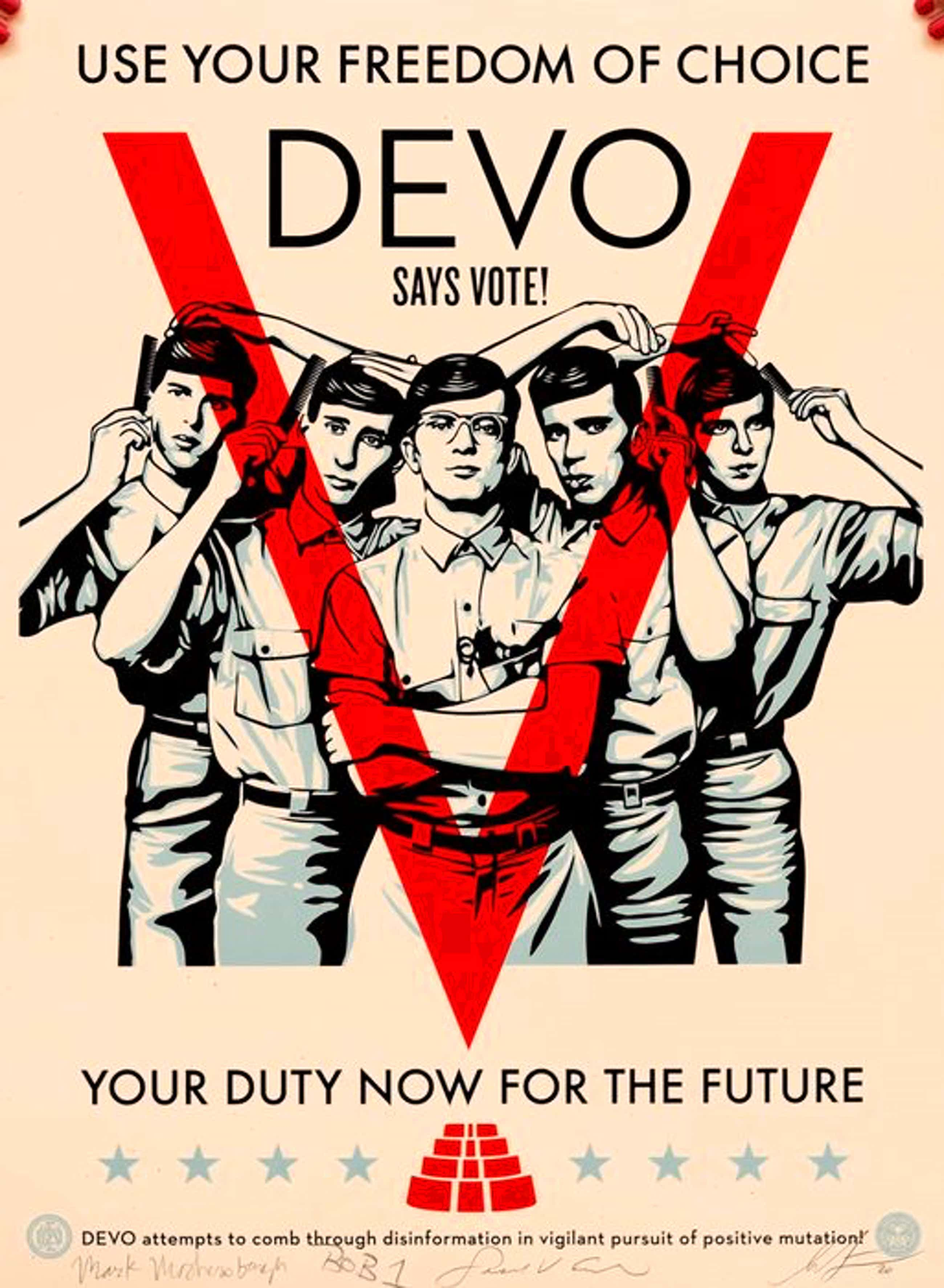 Shepard Fairey - Devo Vote kopen? Bied vanaf 325!