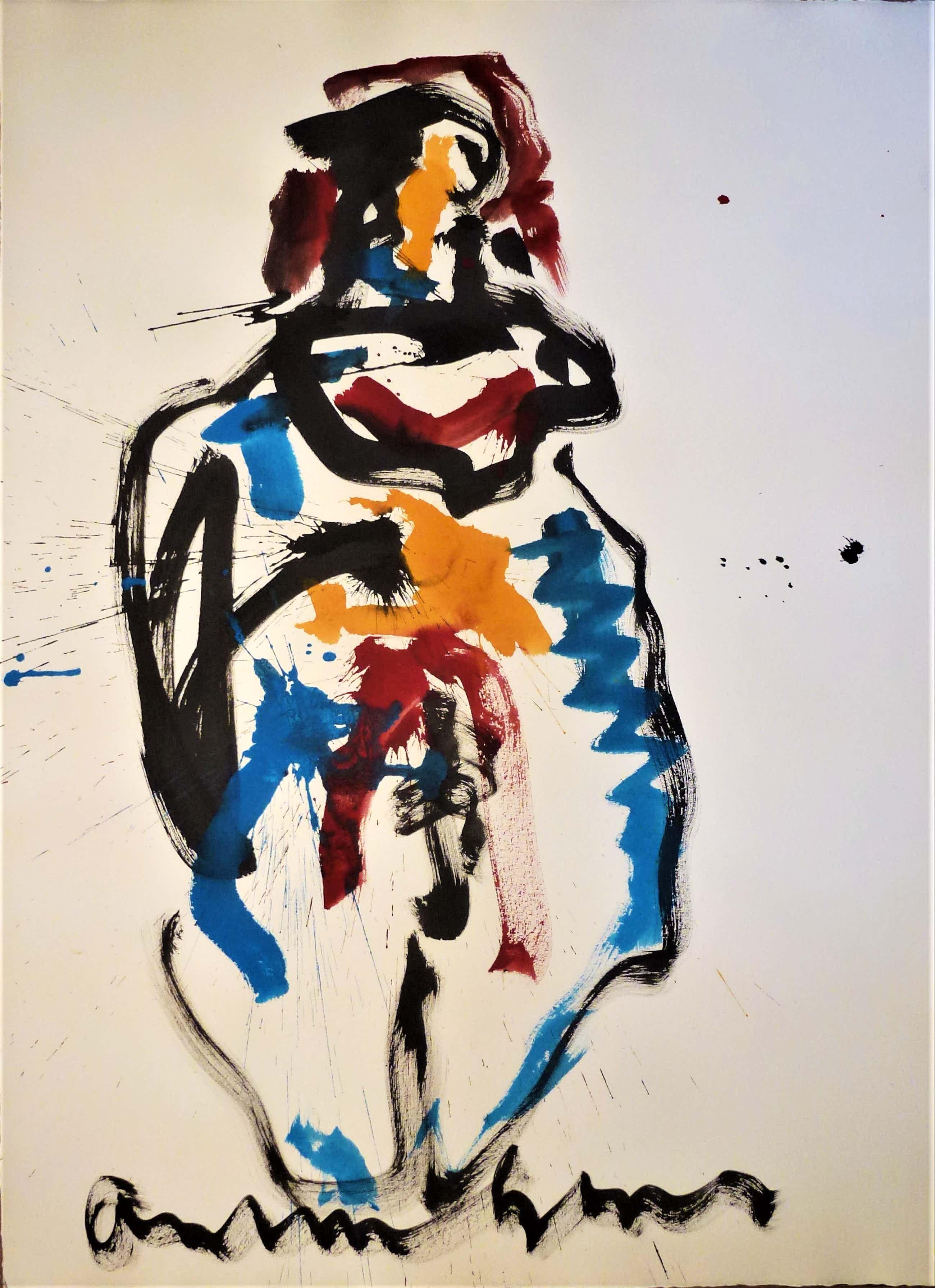 Anton Heyboer - Moeder en kind De oermoeder kleurige krachtige schildering . kopen? Bied vanaf 340!