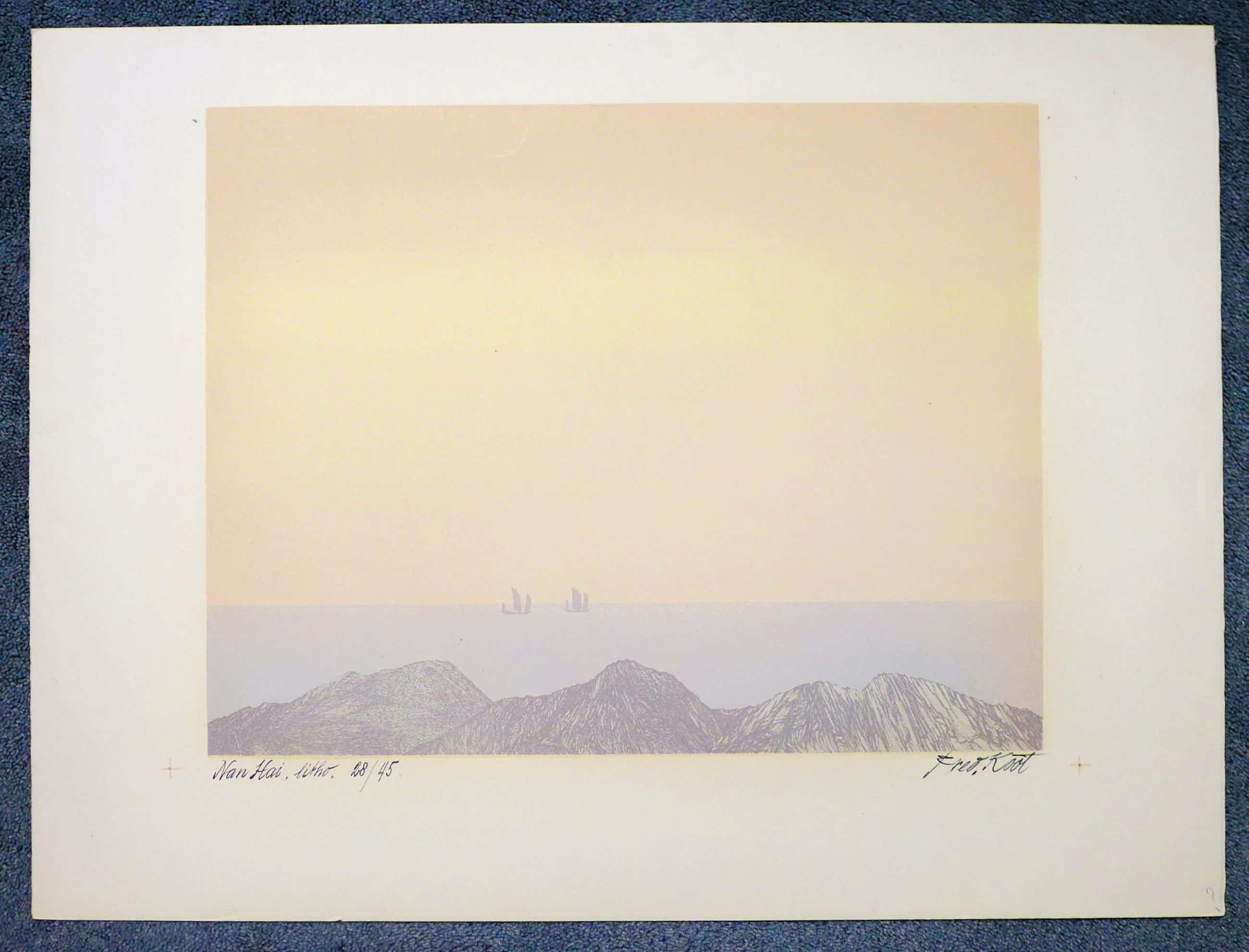 Fred Koot - Litho, titel: Nan Hai 35 x 44 cm. kopen? Bied vanaf 50!