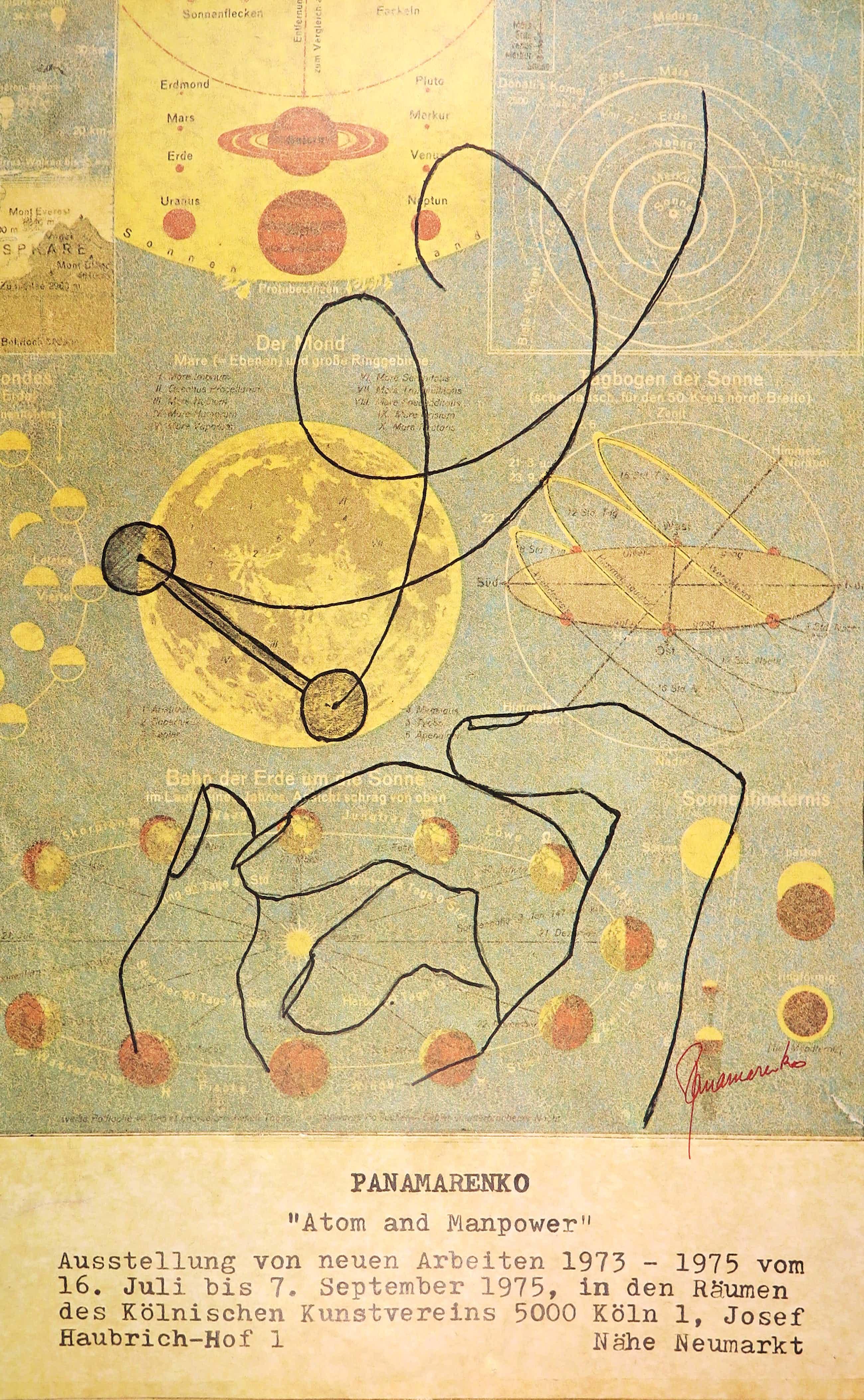 Panamarenko - Groot handgesigneerd affiche voor de expositie Atom and Manpower kopen? Bied vanaf 300!