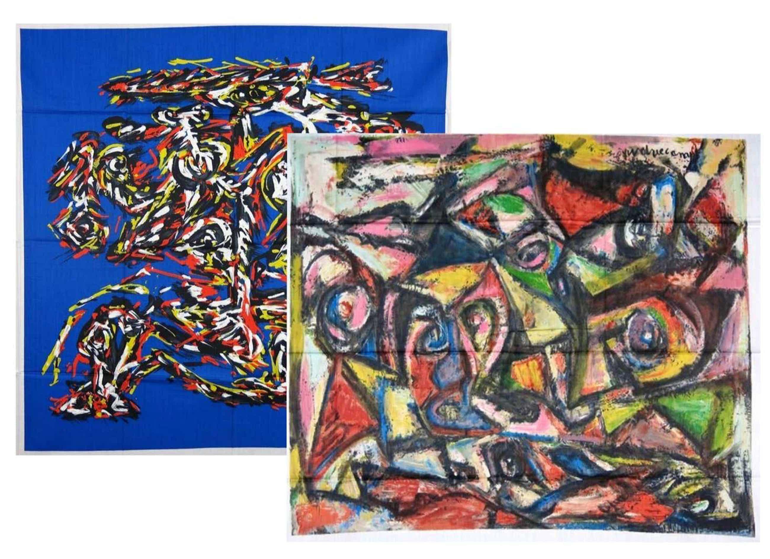 Theo Wolvecamp - Lot van twee zeefdrukken op katoenzijde, Zonder titel kopen? Bied vanaf 50!