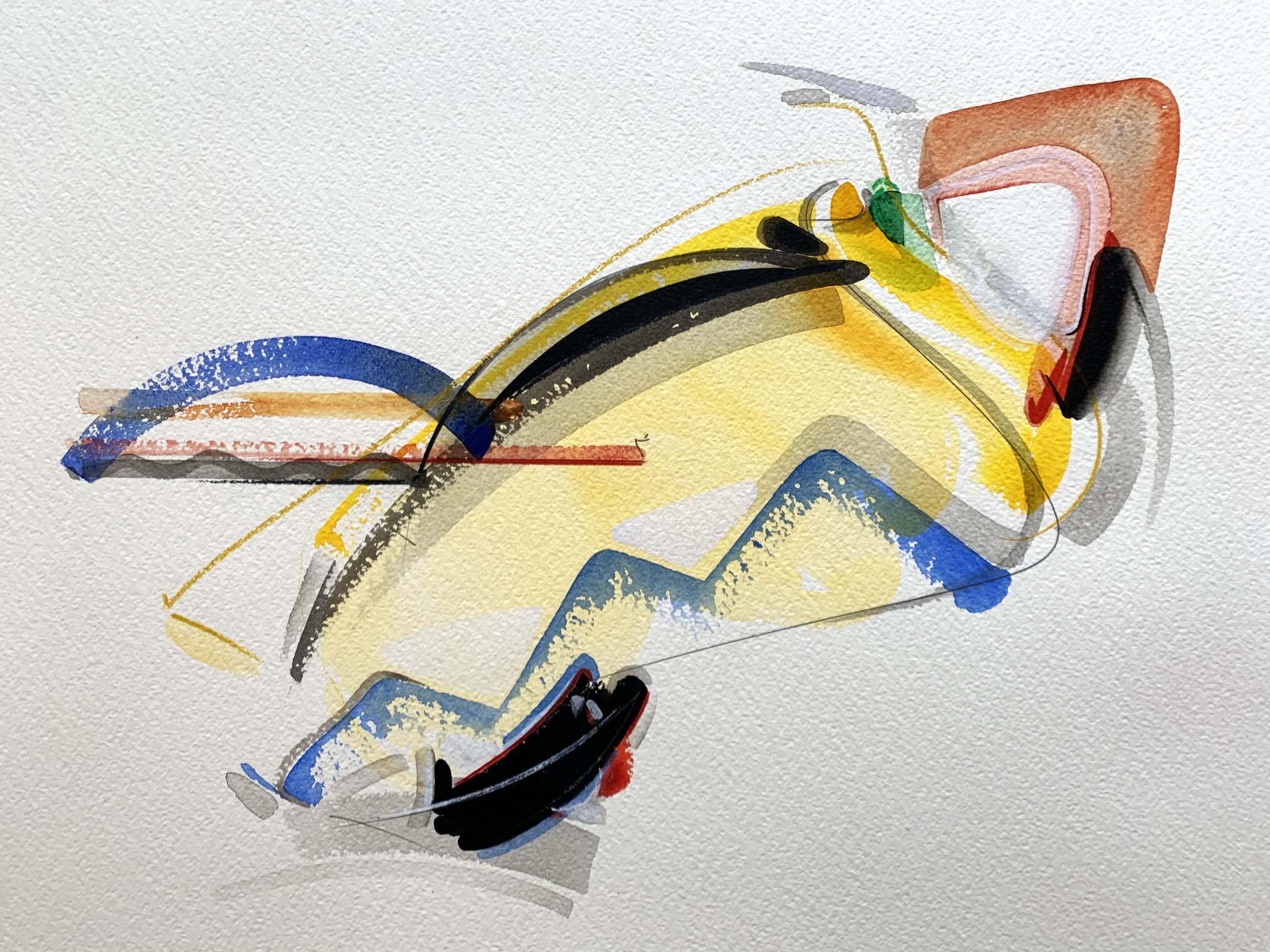 Peter van Drumpt - aquarel - zonder titel - 1993 kopen? Bied vanaf 75!