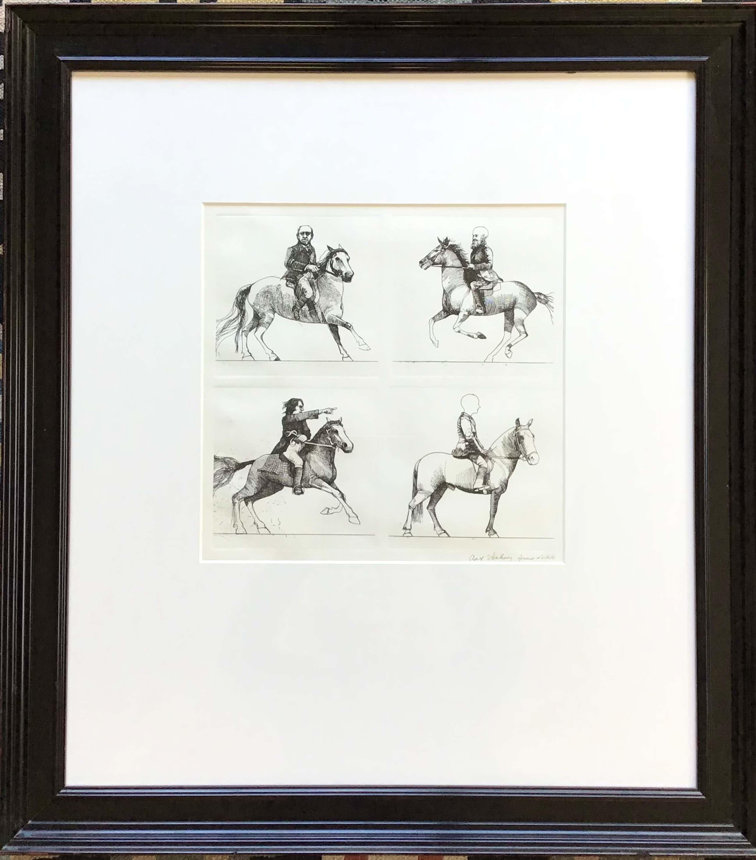 Aat Verhoog - Ets, 4 ruiters en paarden, gesigneerd en ingelijst EA kopen? Bied vanaf 62!