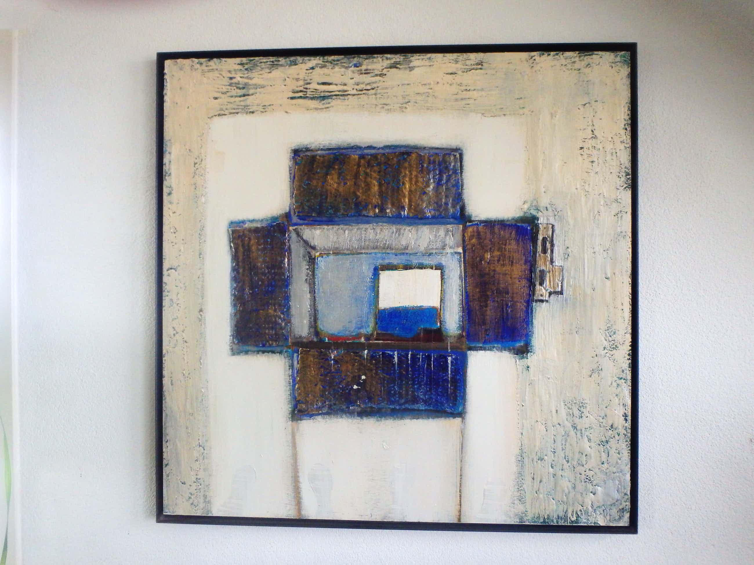 Riet Ebberink - Abstracte compositie - open doos kopen? Bied vanaf 175!