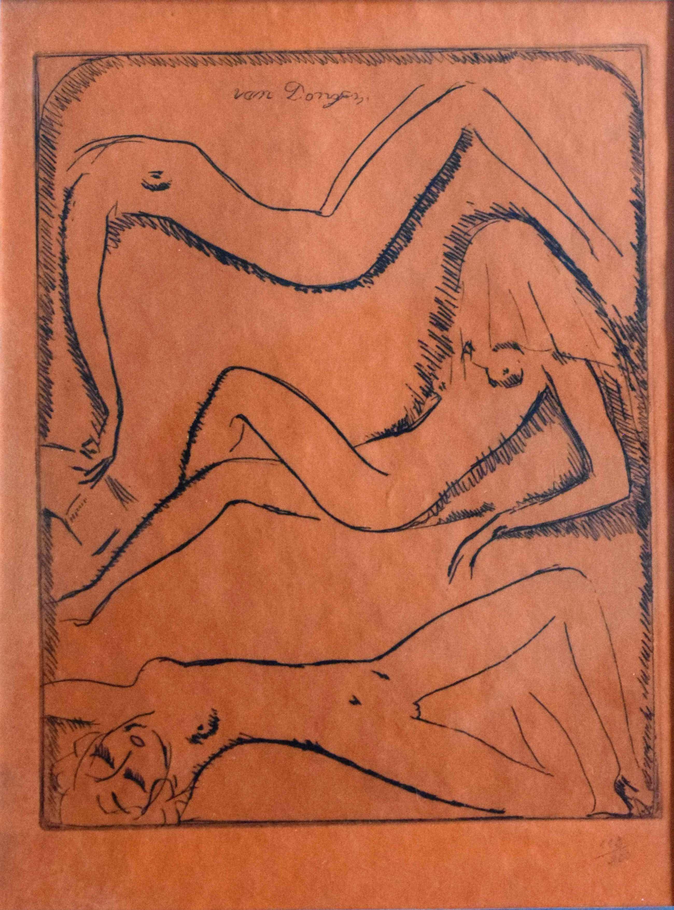 Kees van Dongen - Ets - 3 naaktfiguren - 1925 kopen? Bied vanaf 550!