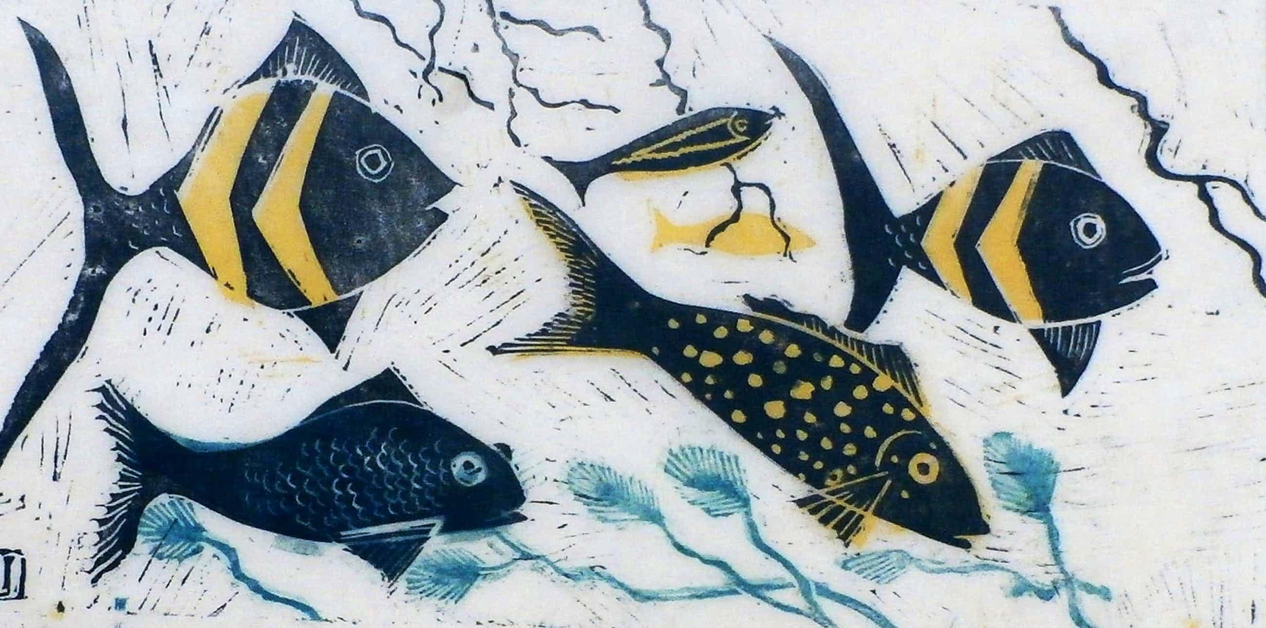 Jeanne Bieruma Oosting - ingelijste ets: aquarium kopen? Bied vanaf 67!