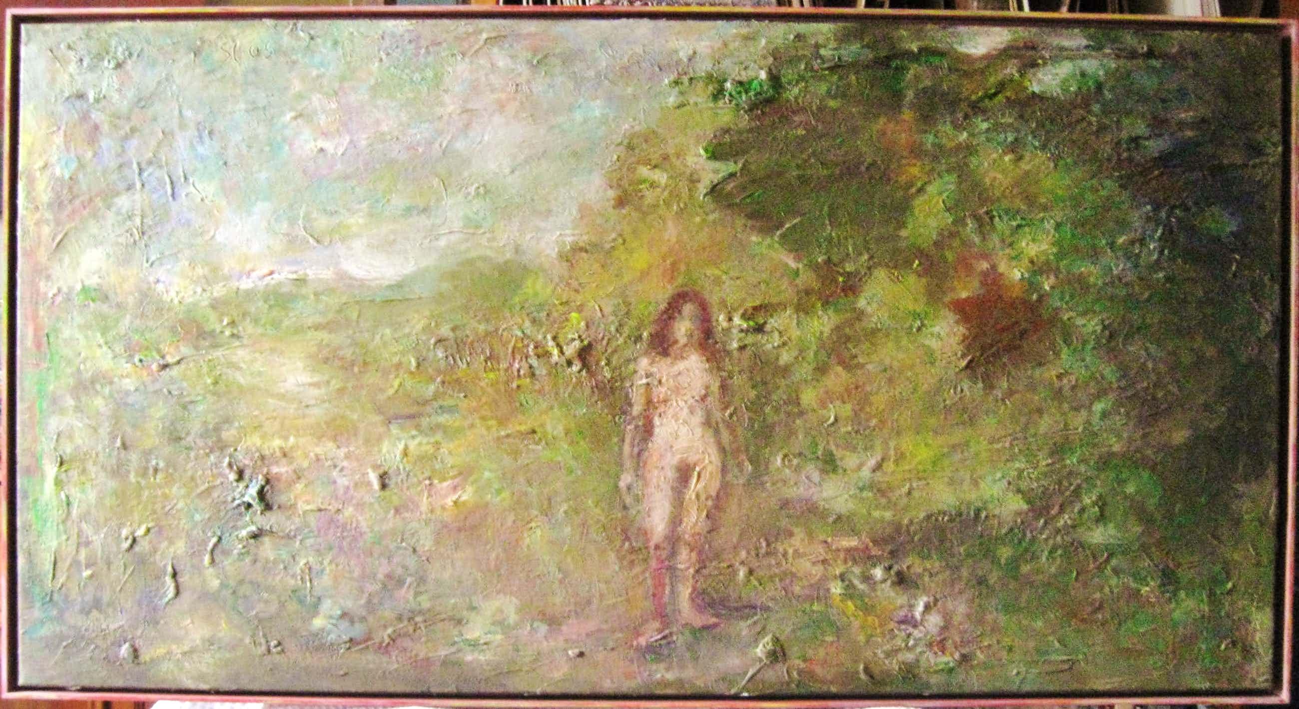 Theo van der Steen - Naakt in landschap (Eva). kopen? Bied vanaf 61!