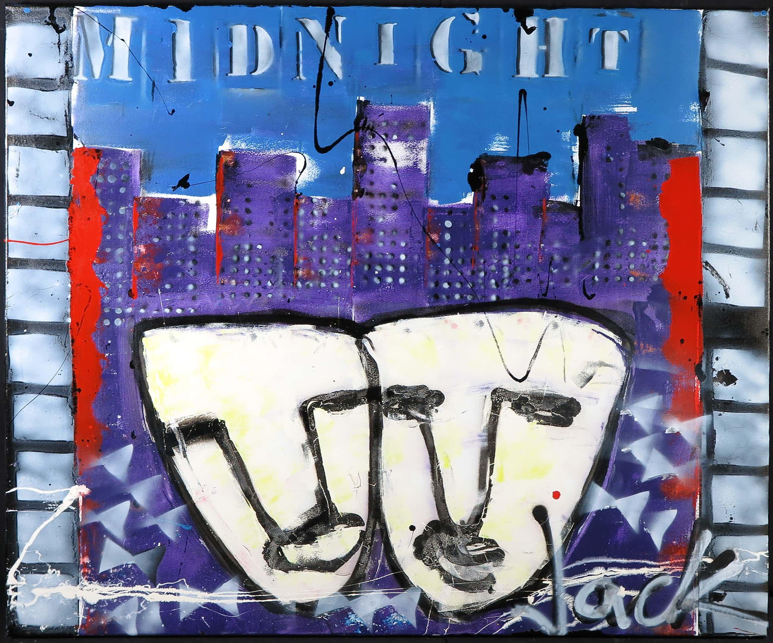 Jack Liemburg - Gemengde techniek op doek, Midnight (Groot) kopen? Bied vanaf 100!