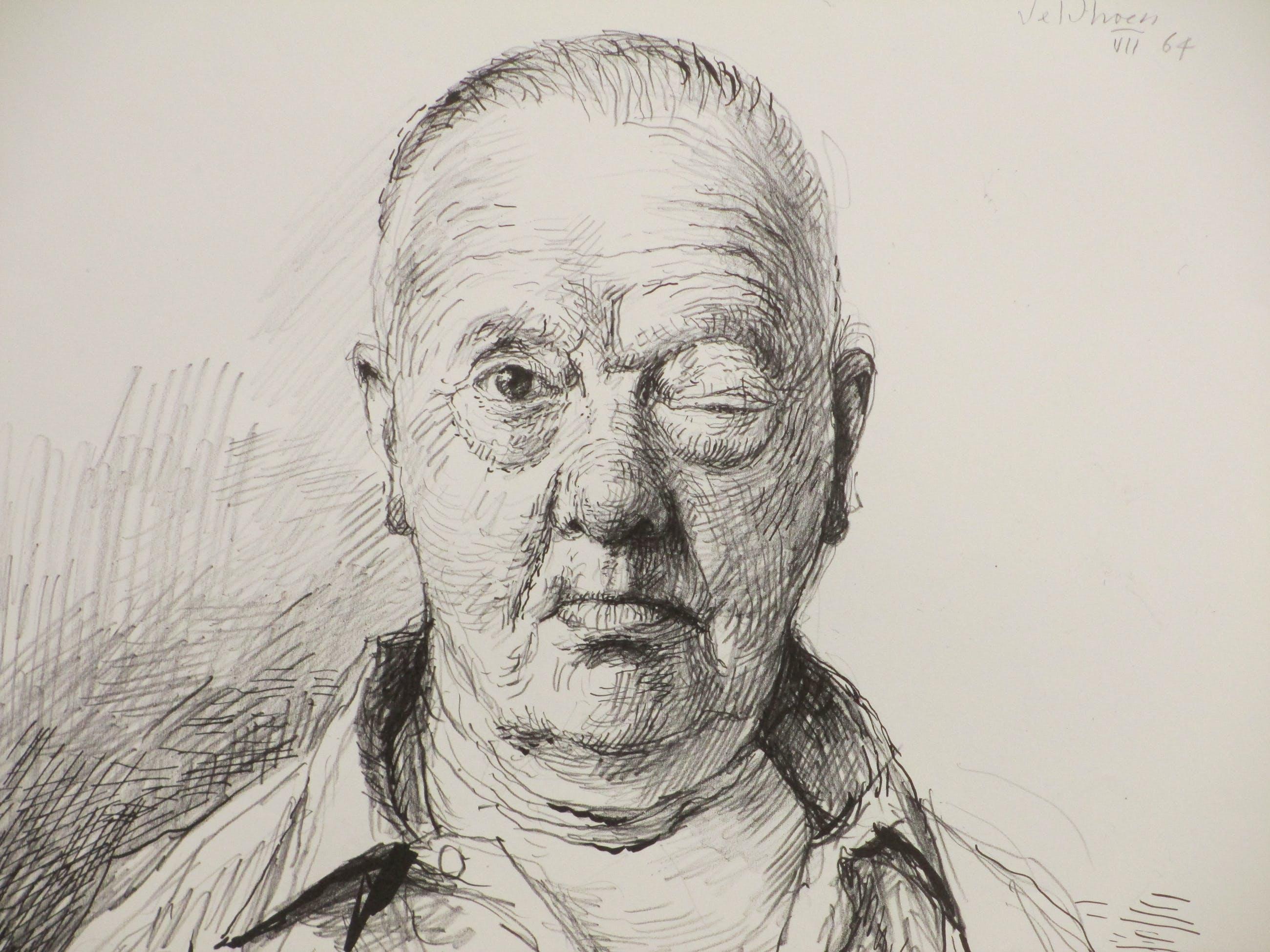 Aat Veldhoen - Man met dik oog - Rotaprint kopen? Bied vanaf 40!