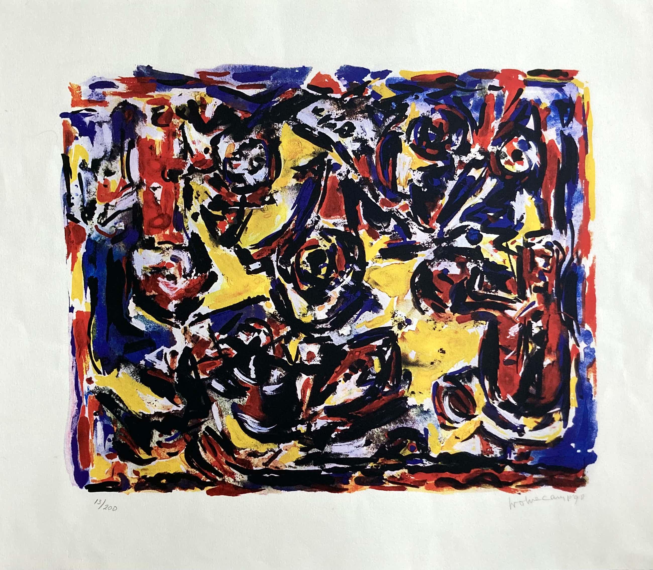 """Theo Wolvecamp - """"Happy birds"""" compositie kopen? Bied vanaf 95!"""