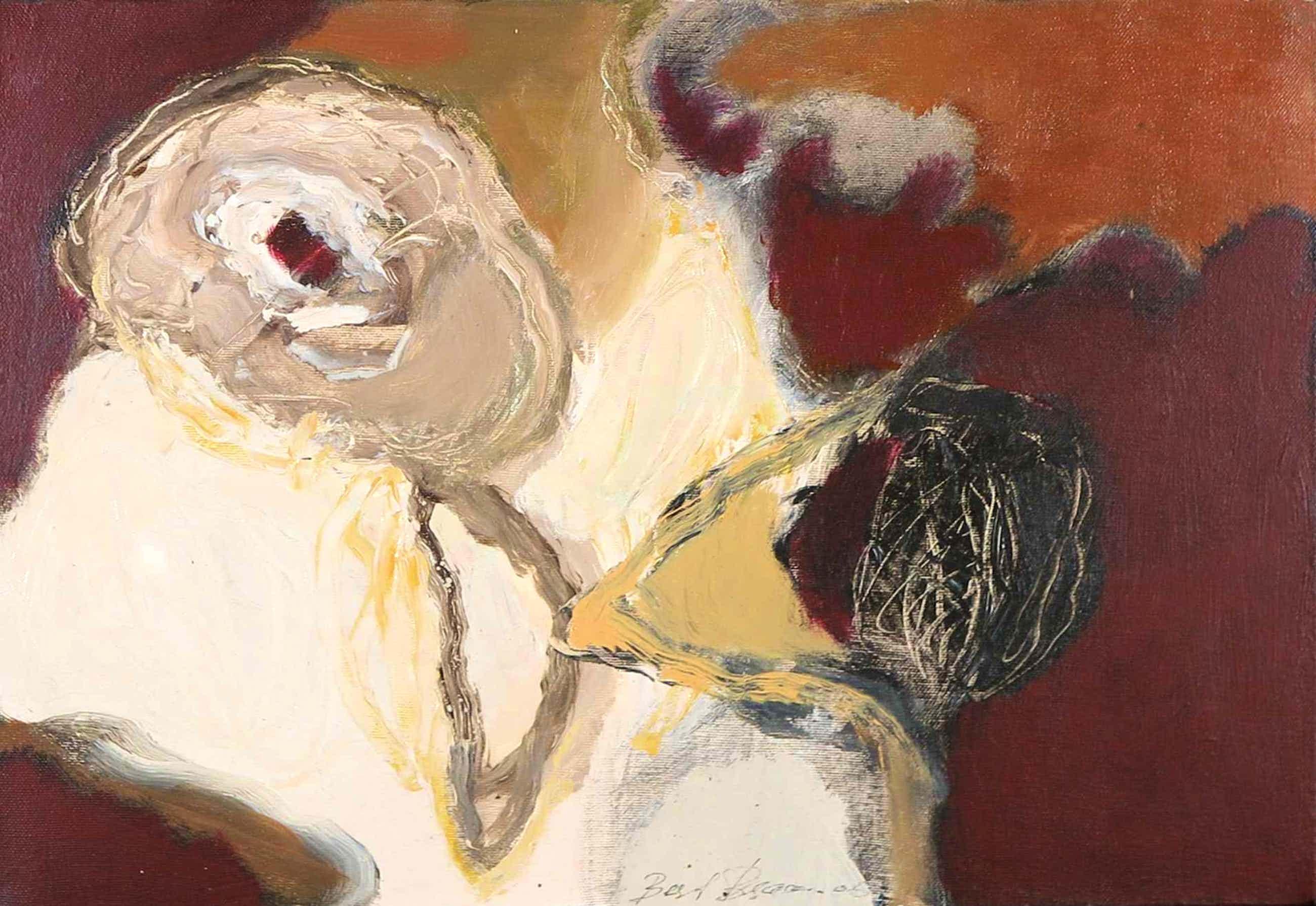 Bert Braam - Acryl op doek, Abstracte compositie kopen? Bied vanaf 40!