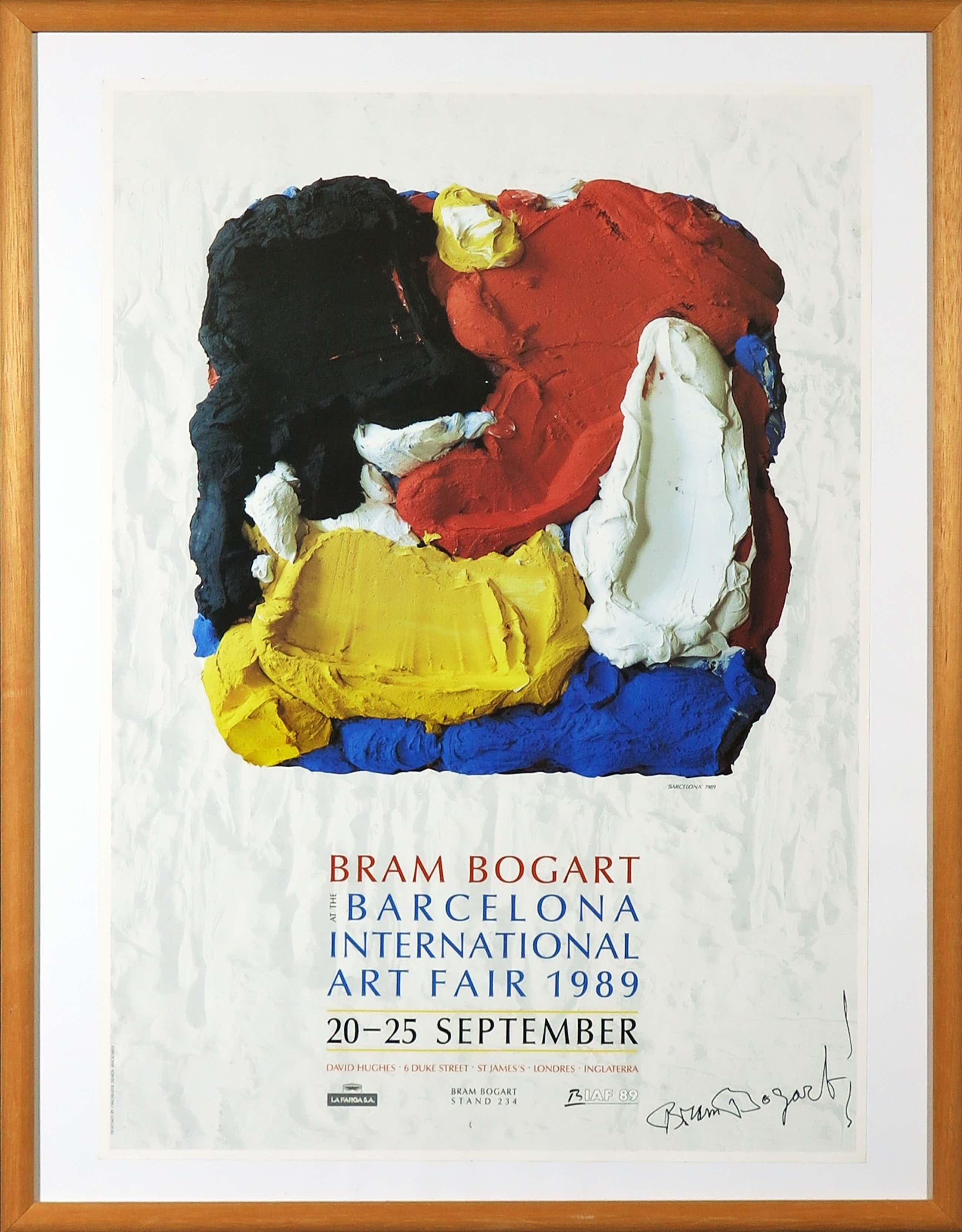 Bram Bogart - Gesigneerd Affiche, Bram Bogart - Barcelona International Art Fair - Ingelijst kopen? Bied vanaf 100!