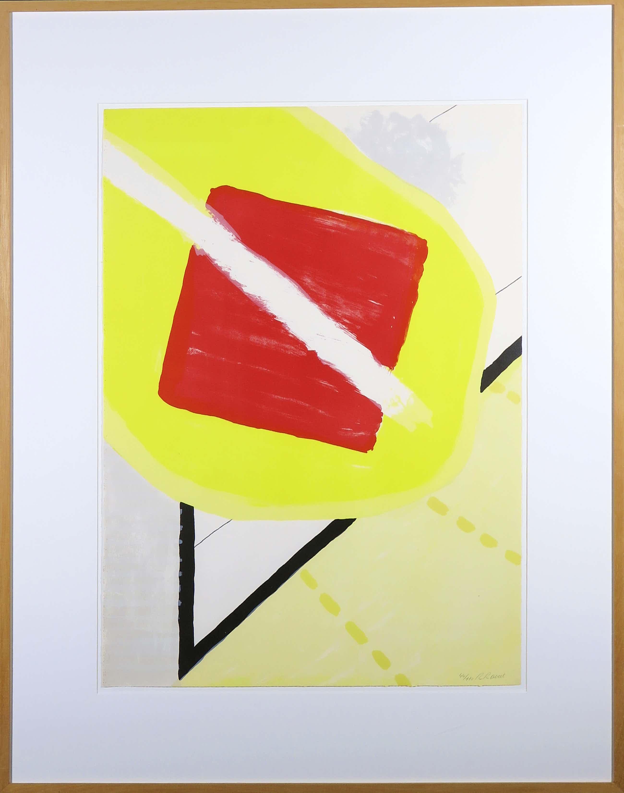 Roger Raveel - Litho, De schilderijenoptocht van 1978 te Machelen-aan-de-Leie, Ingelijst (Groot kopen? Bied vanaf 600!