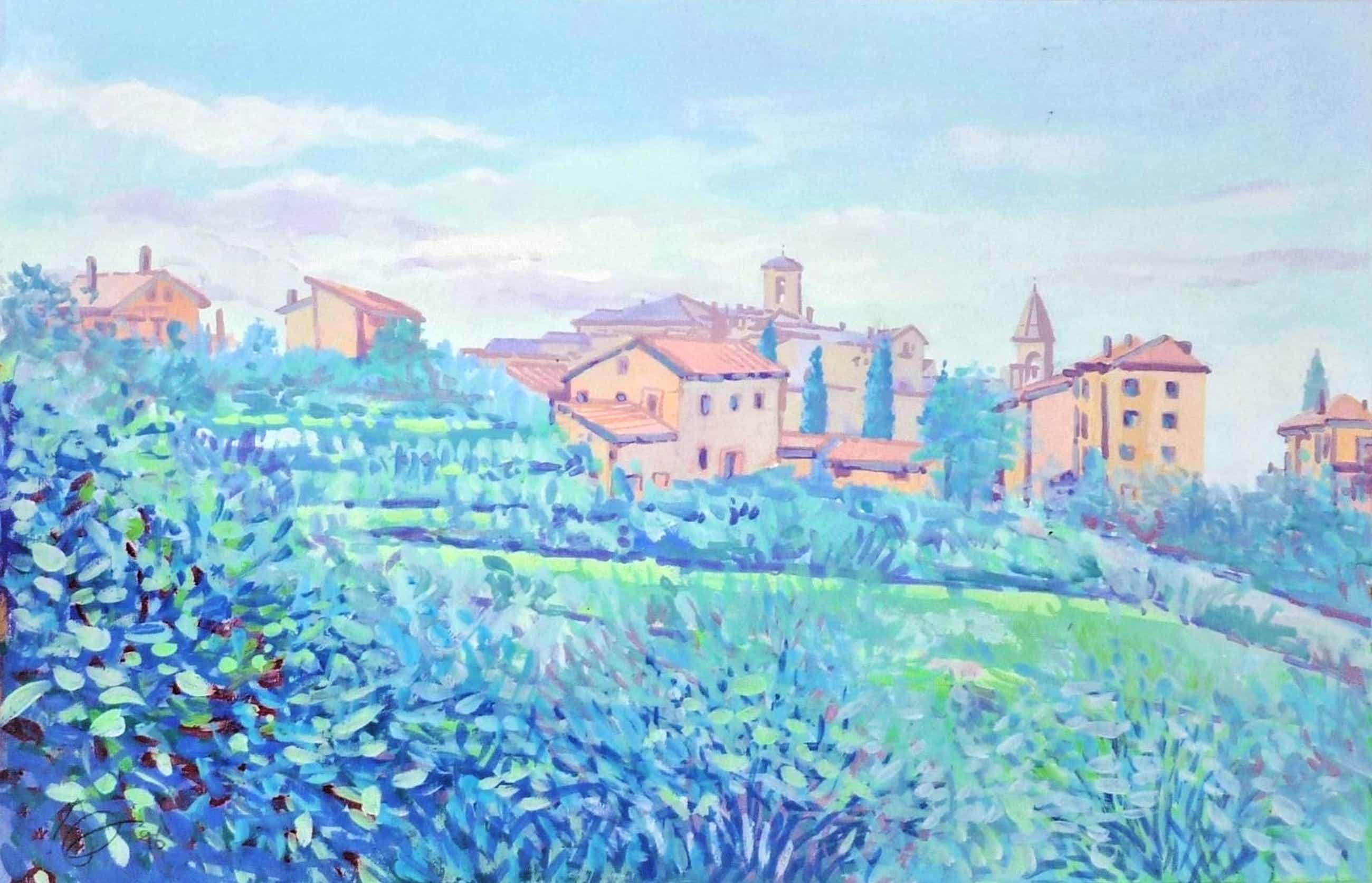 Jan Bernard Meinen - Luministisch landschap in Zuid-Frankrijk kopen? Bied vanaf 99!