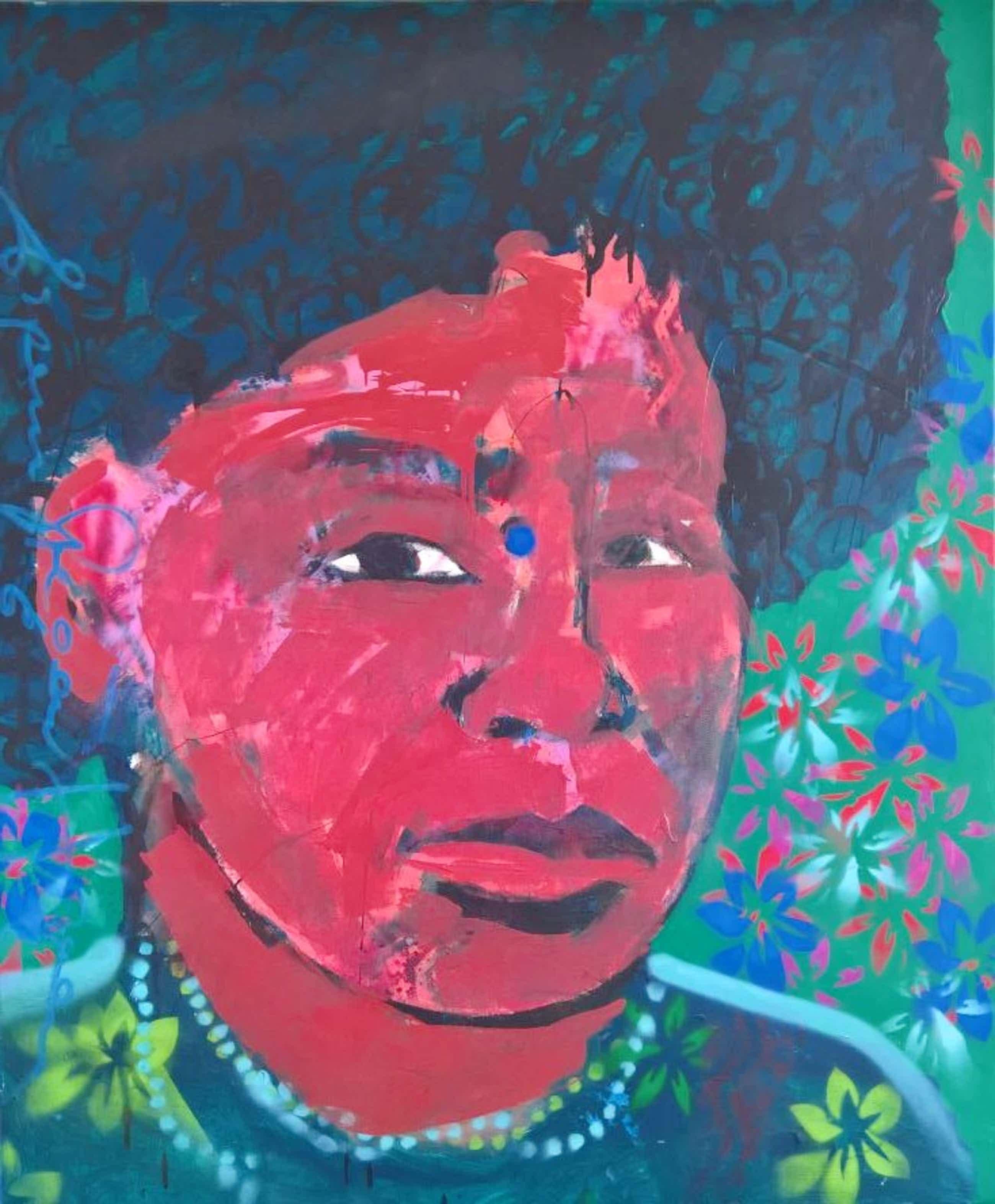 Espen Hagen - Origineel groot schilderij 'Afro-Indan' kopen? Bied vanaf 680!