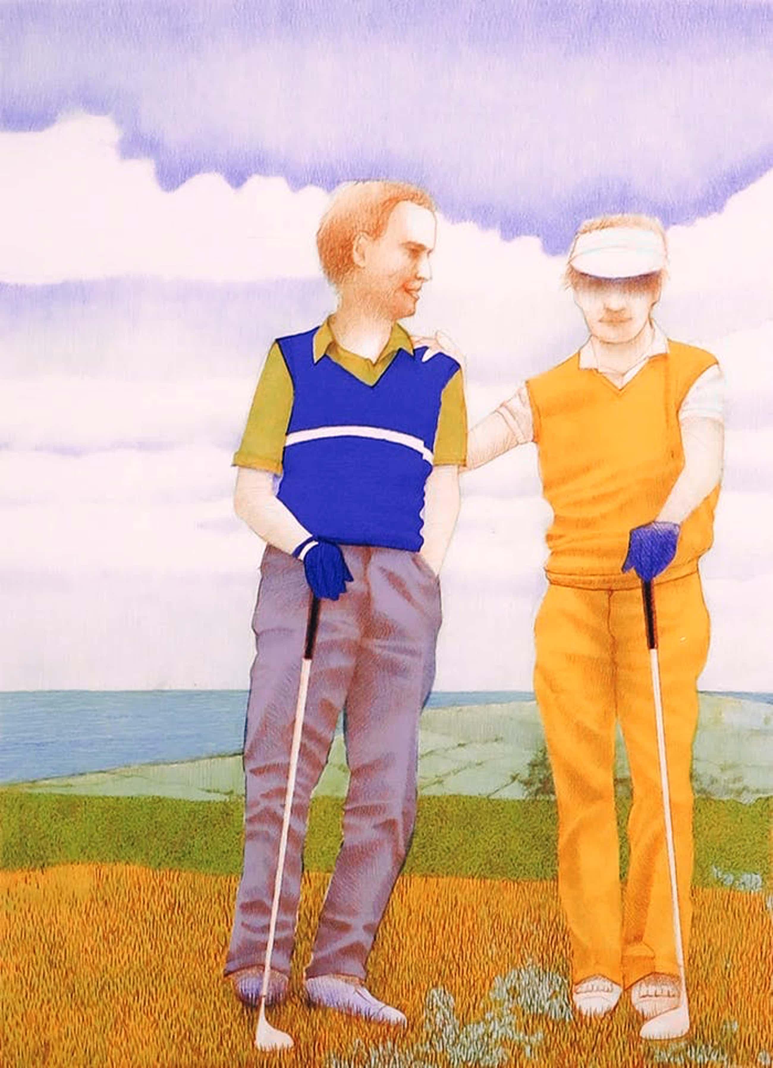 Aat Verhoog - Litho, About golf kopen? Bied vanaf 70!