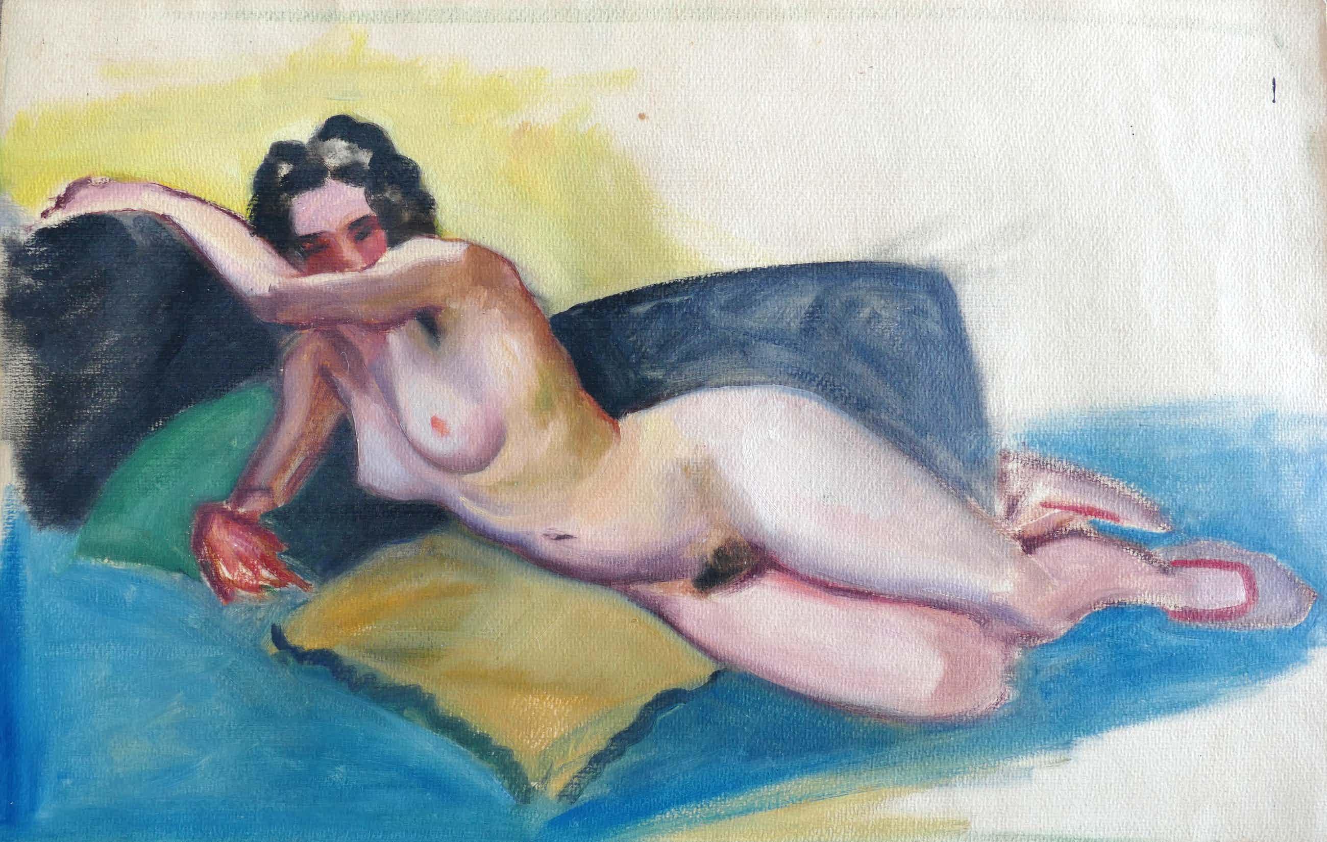 Joop Moesman - Reclining Female Nude kopen? Bied vanaf 280!