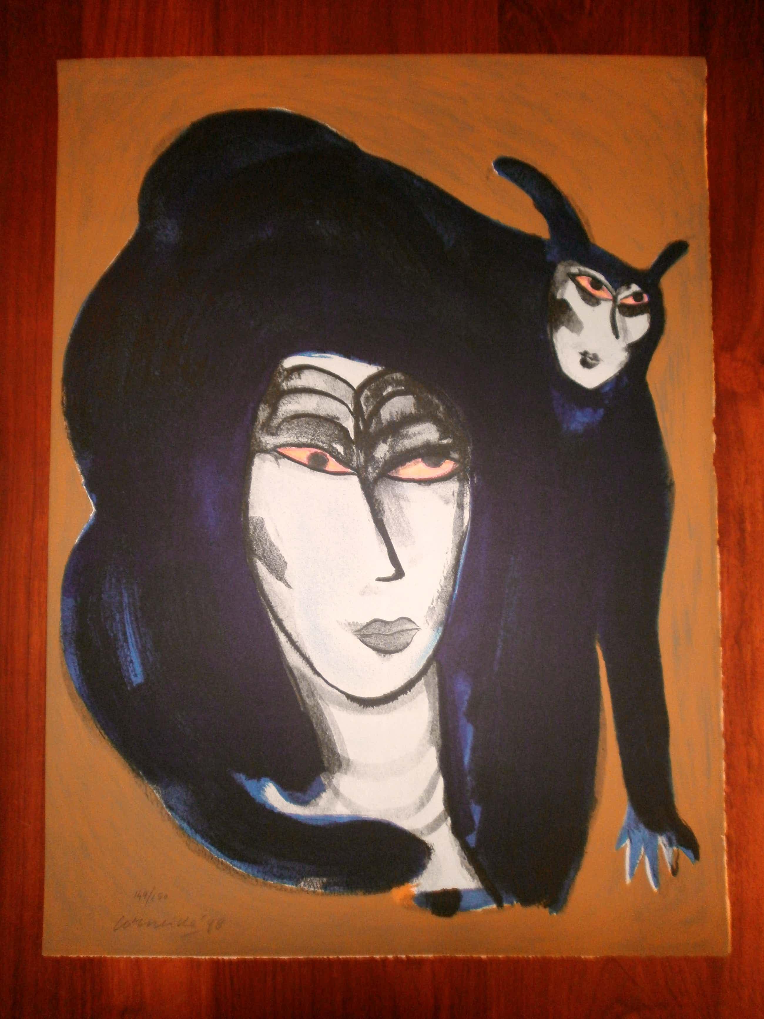 Corneille - Femme et chat [groot] kopen? Bied vanaf 315!
