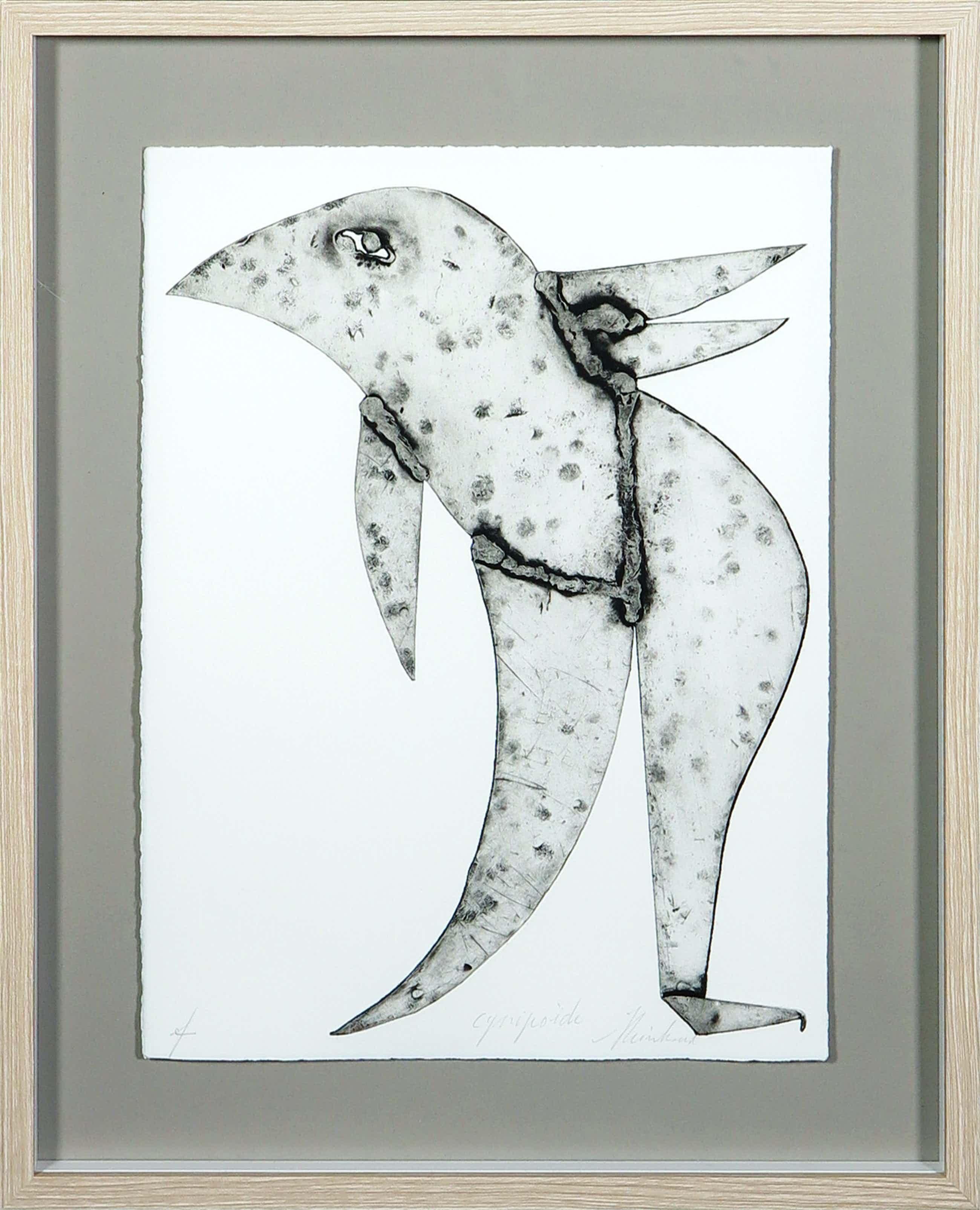 Reinhoud D'Haese - Aquatint metaaldruk met een figuur - Ingelijst kopen? Bied vanaf 120!