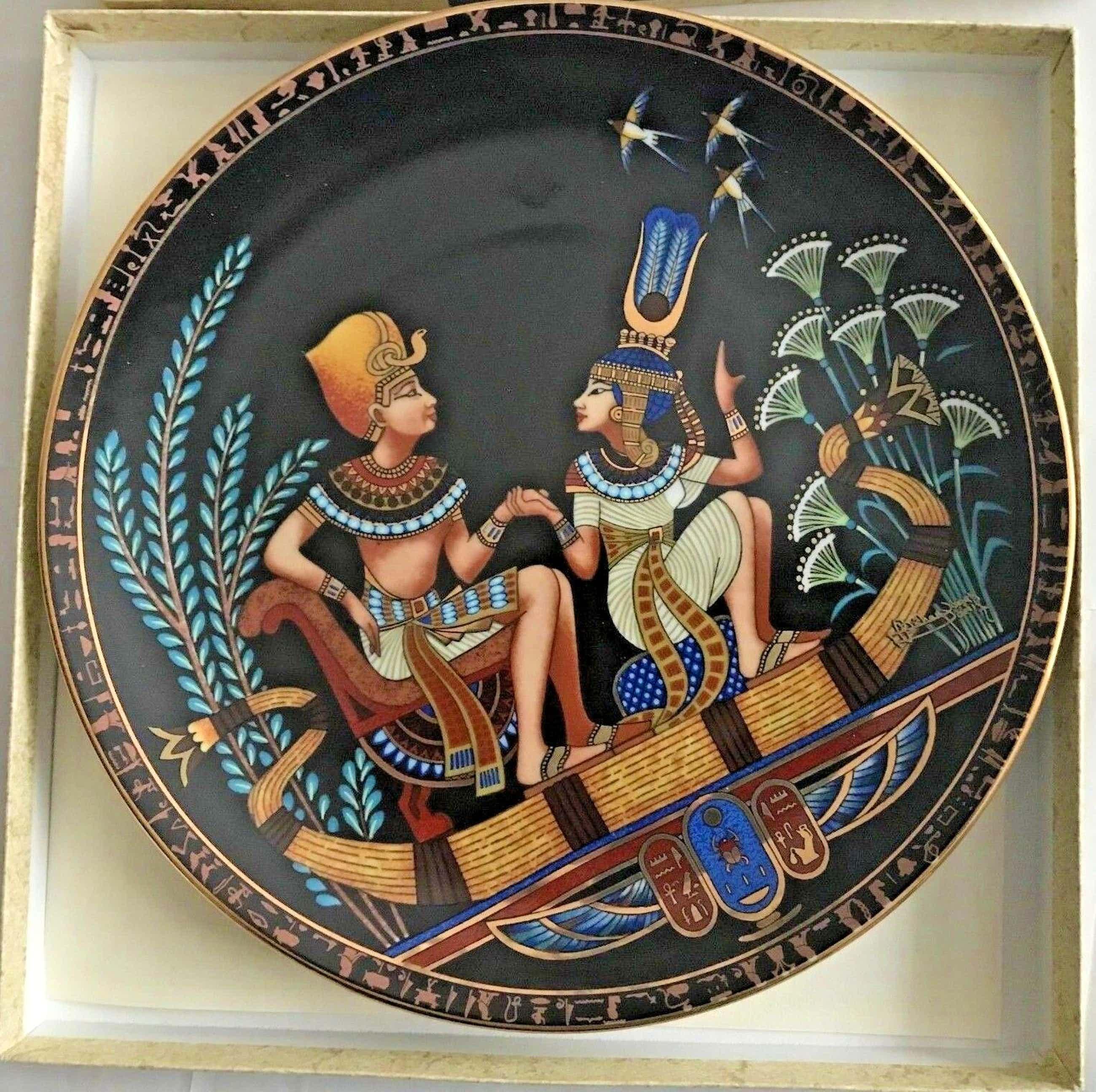 Niet of onleesbaar gesigneerd - Borden, Legend of Tutankhamun (8) - .916 (22 kt) goud, kopen? Bied vanaf 1!