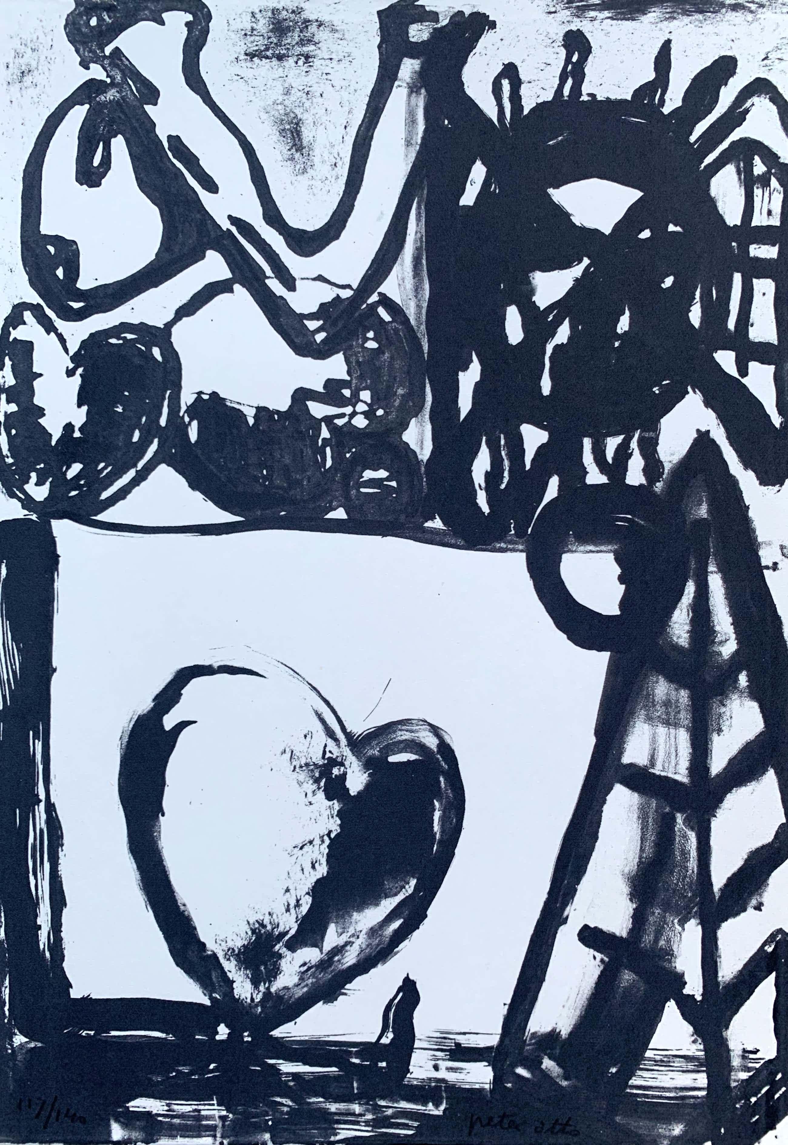 Peter Otto - Lithografie | 'Zonder titel' | 1993 kopen? Bied vanaf 65!