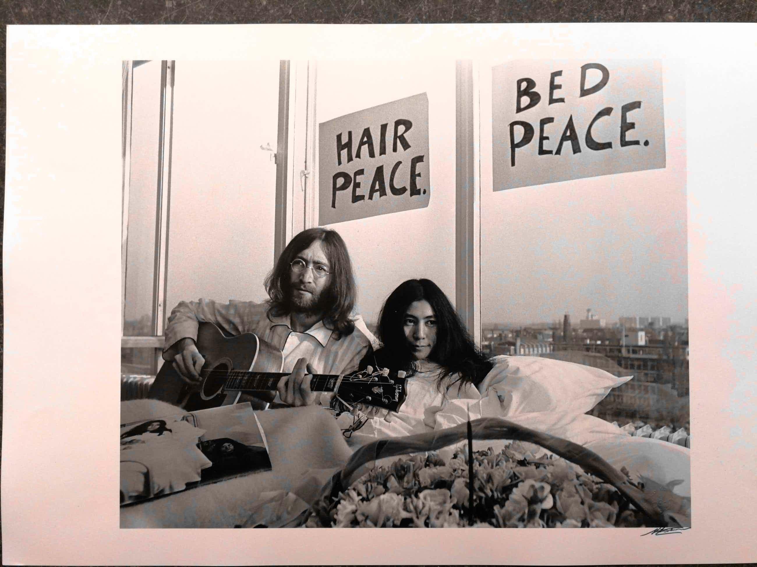 Nico Koster - John Lennon Yoko Ono Hilton Amsterdam 1969 kopen? Bied vanaf 95!