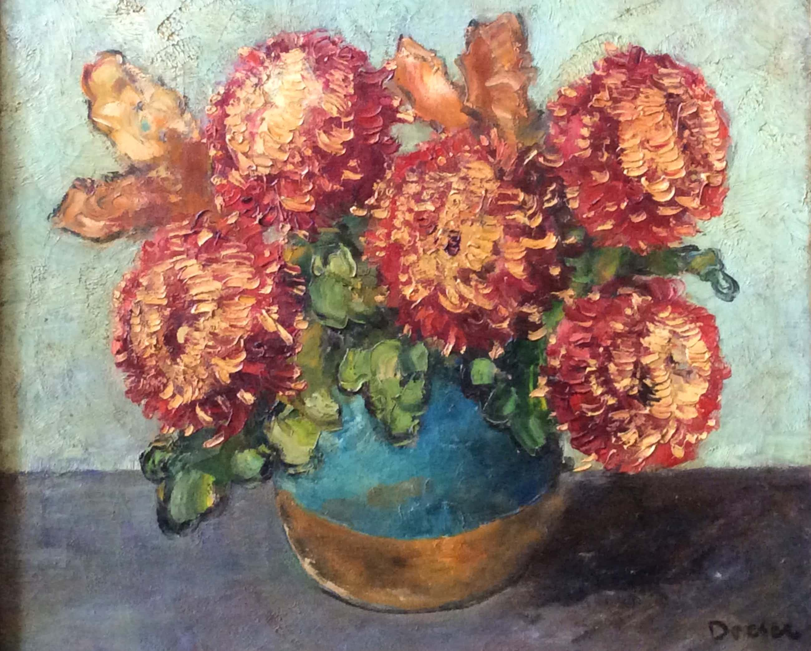 Jacobus Doeser - 1884-1970 Chrysanten in pot kopen? Bied vanaf 100!