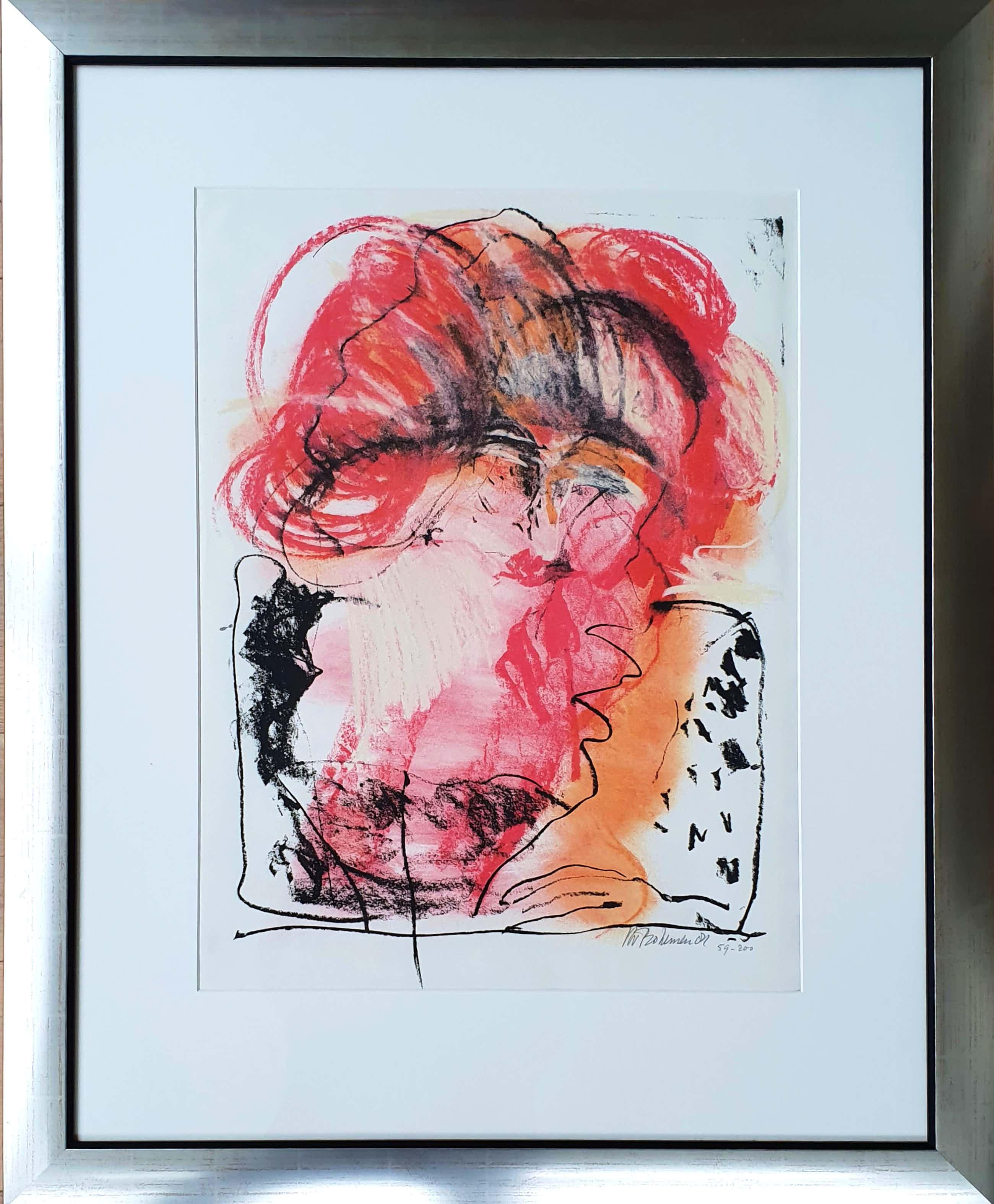 Kees van Bohemen - Litho, Vrouw met rood haar - Ingelijst (Groot) kopen? Bied vanaf 180!