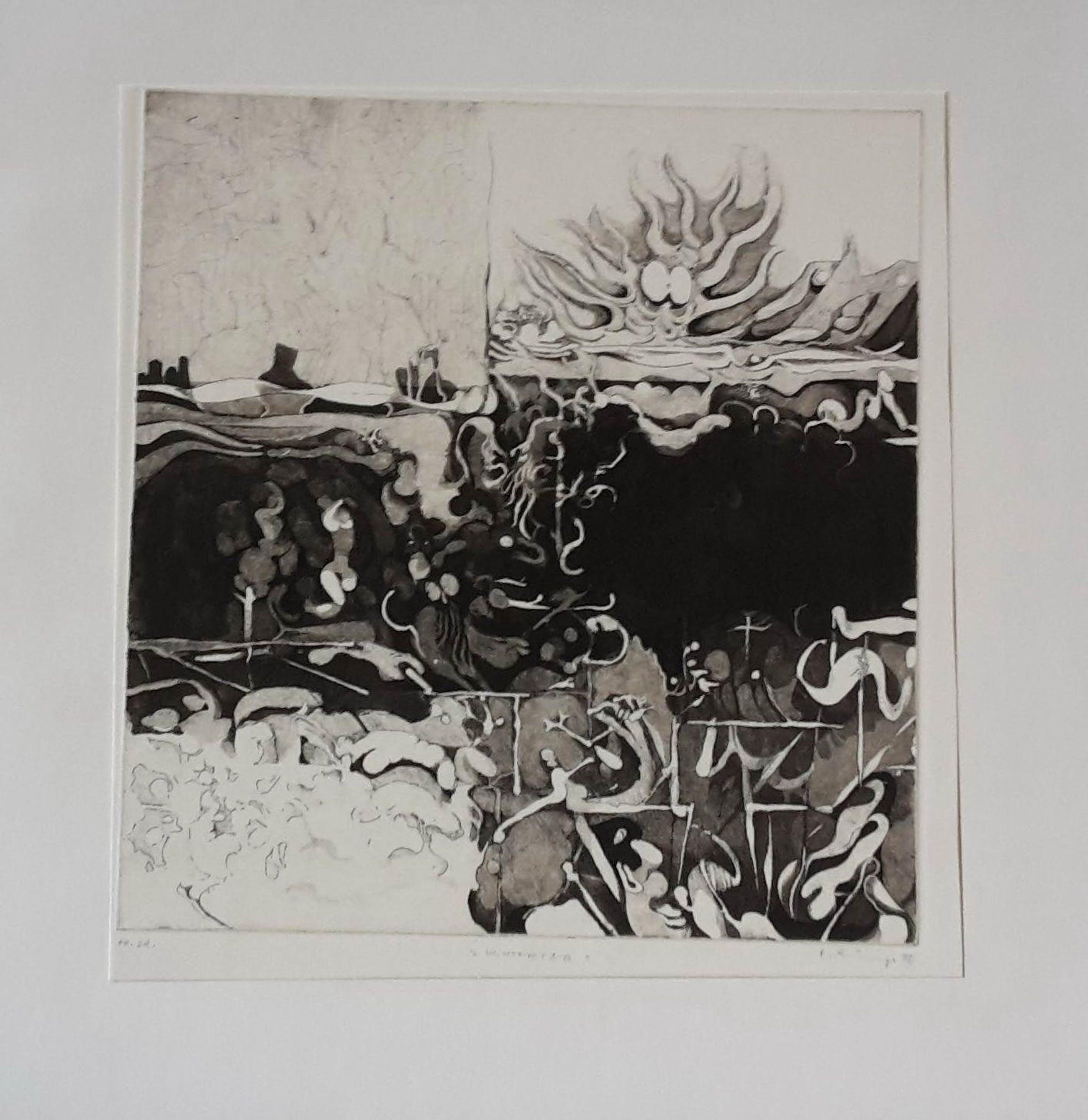 Holger Runge - Wintertag, ets, 1972 kopen? Bied vanaf 40!