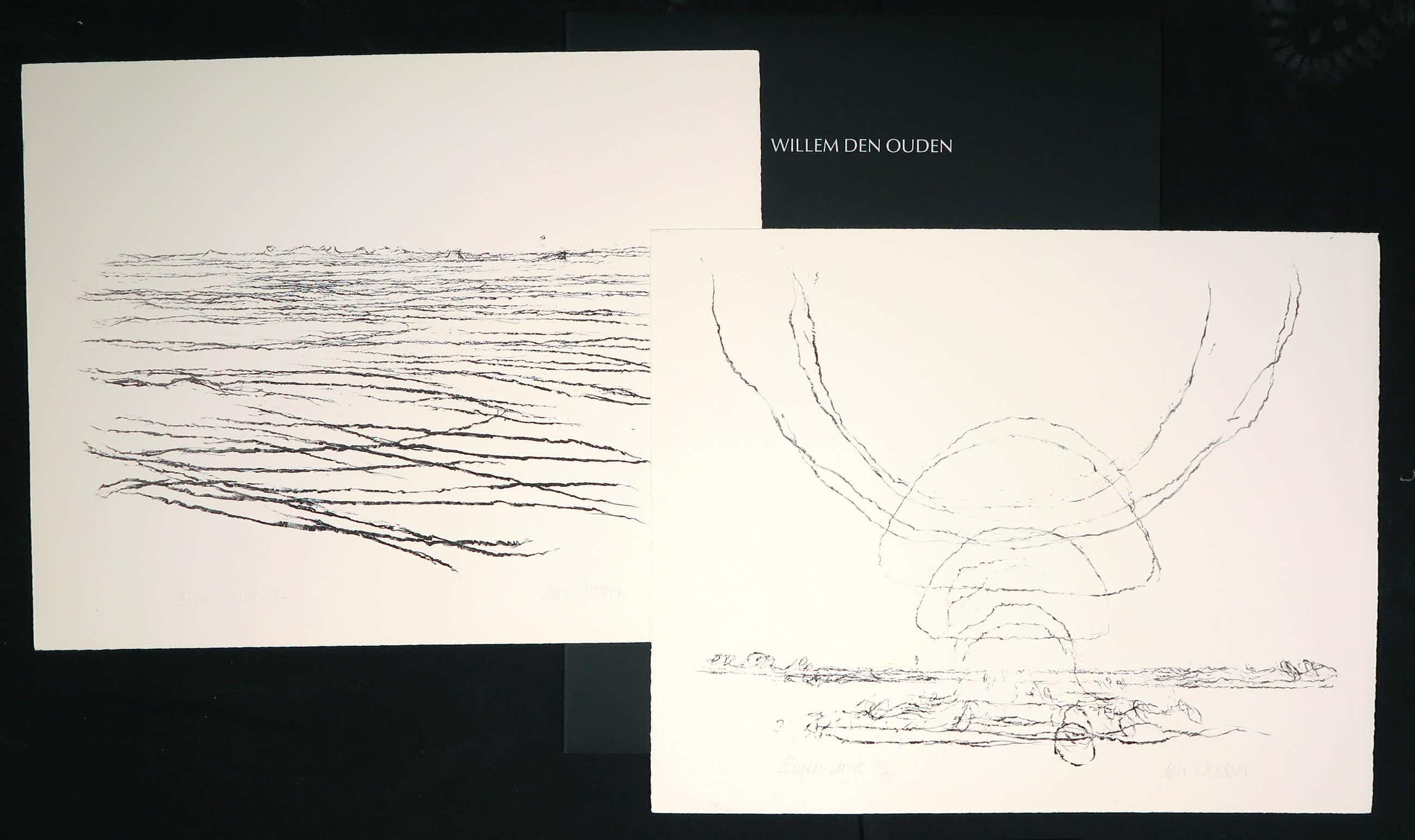 Willem den Ouden - Laureatenmap met twee prenten (litho's), De Waal kopen? Bied vanaf 150!