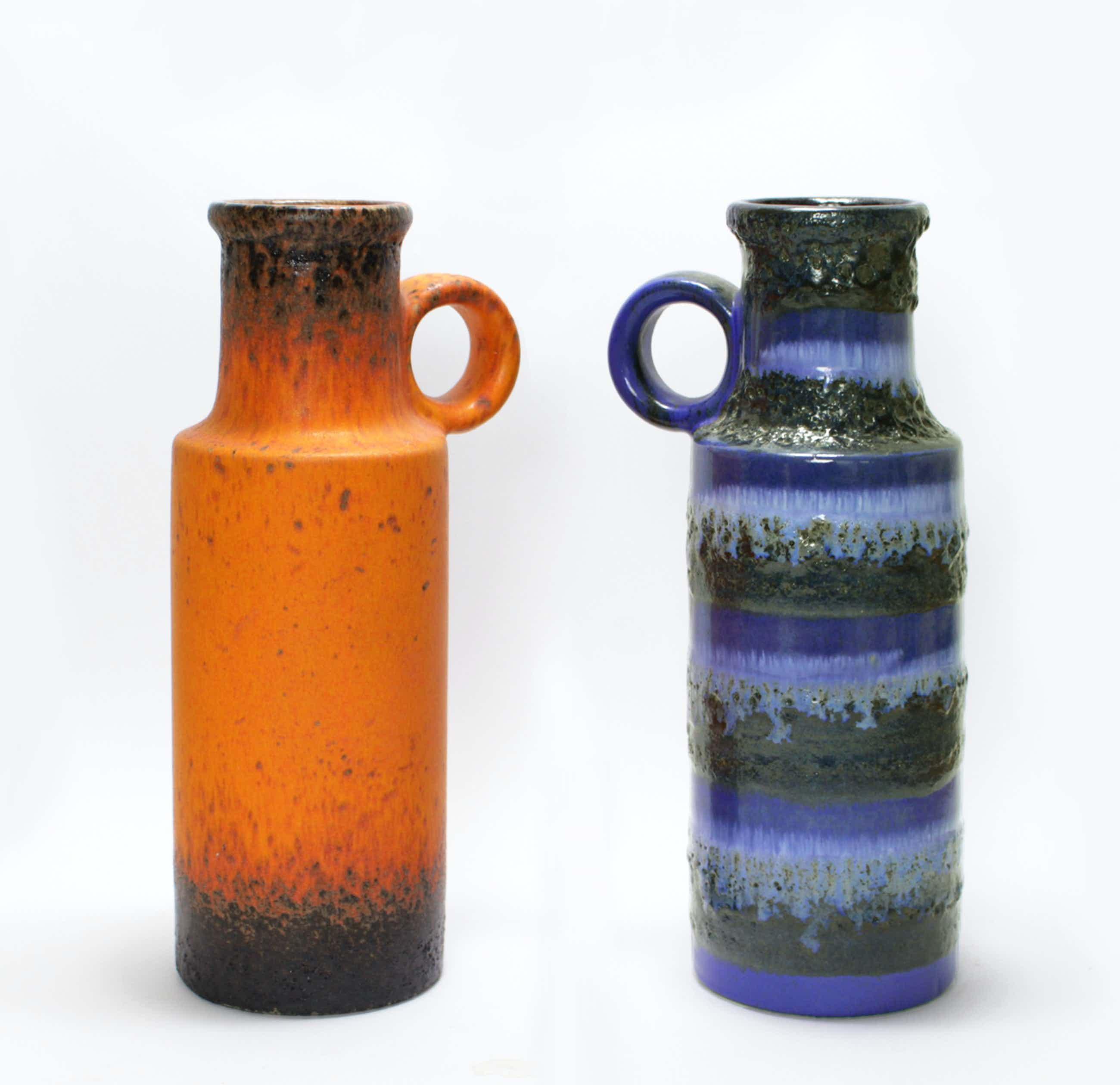 Scheurich Keramik - 2 Fat Lava vazen - model 401/28 kopen? Bied vanaf 65!