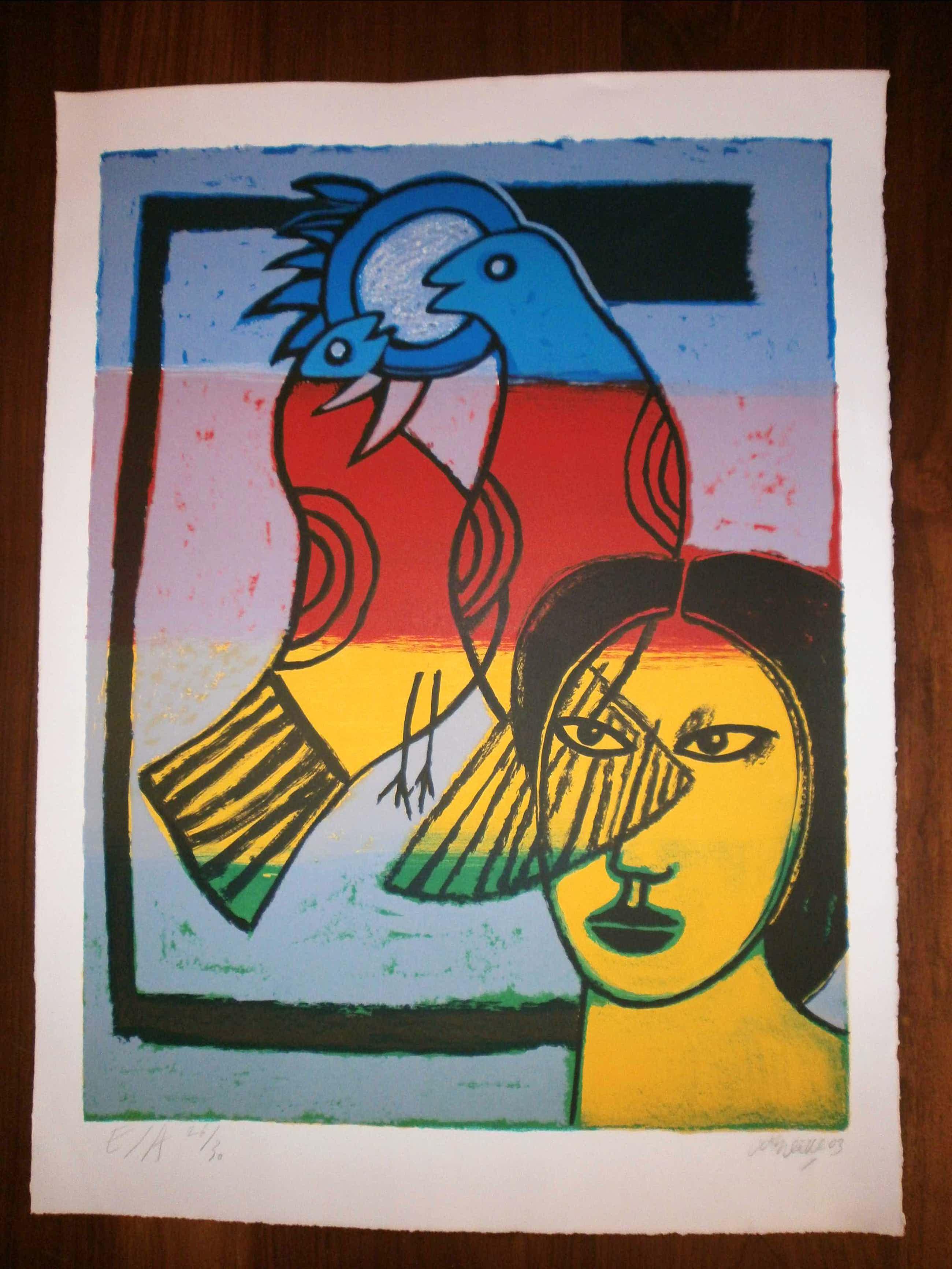 Corneille - oiseaux multicolores kopen? Bied vanaf 315!
