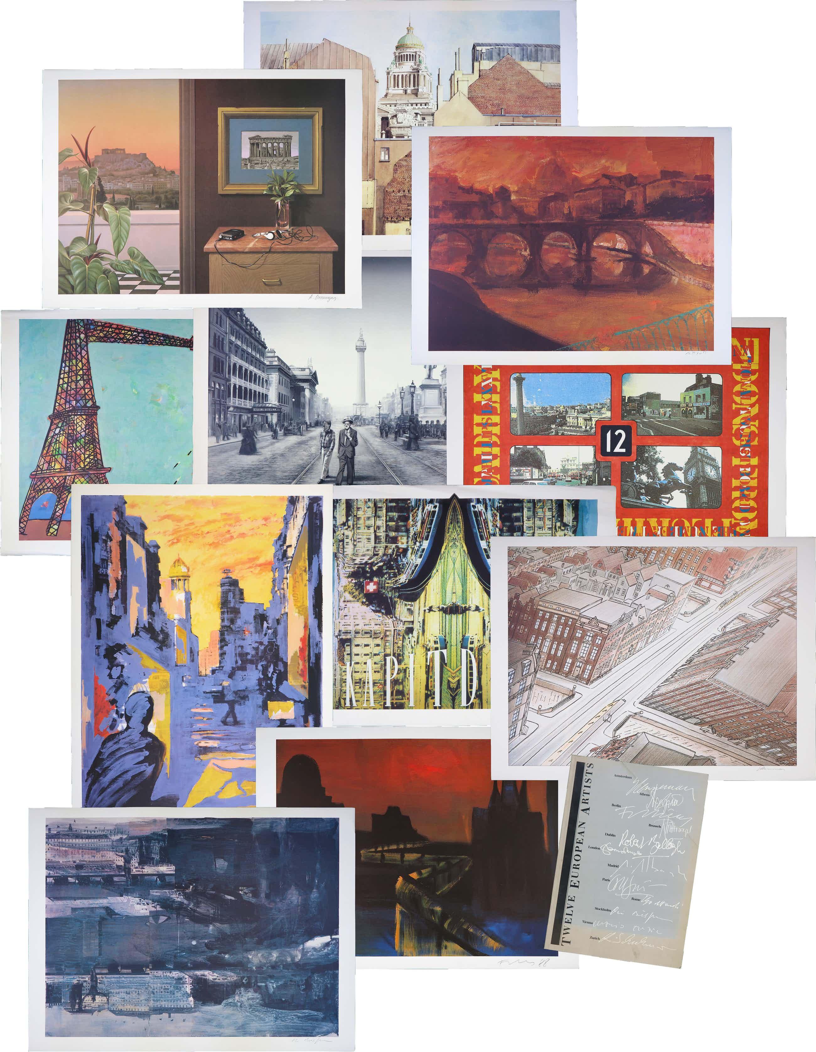 Jeroen Henneman - Antonio Segui, Rainer Fetting e.a. - Serie Twelve European Artists + Boek kopen? Bied vanaf 160!