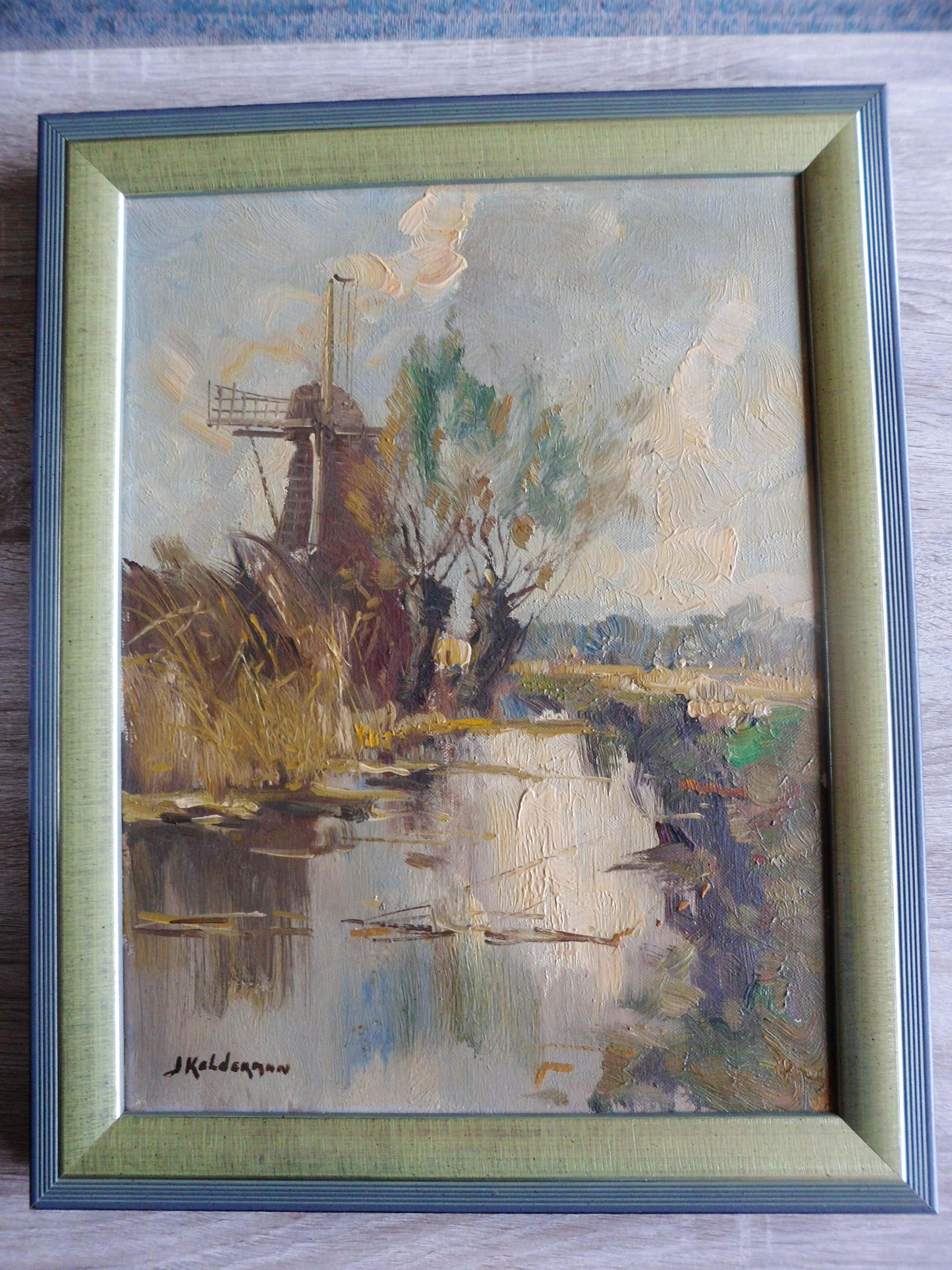 """Jan Kelderman - Schilderij. """"Molengezicht"""". kopen? Bied vanaf 50!"""