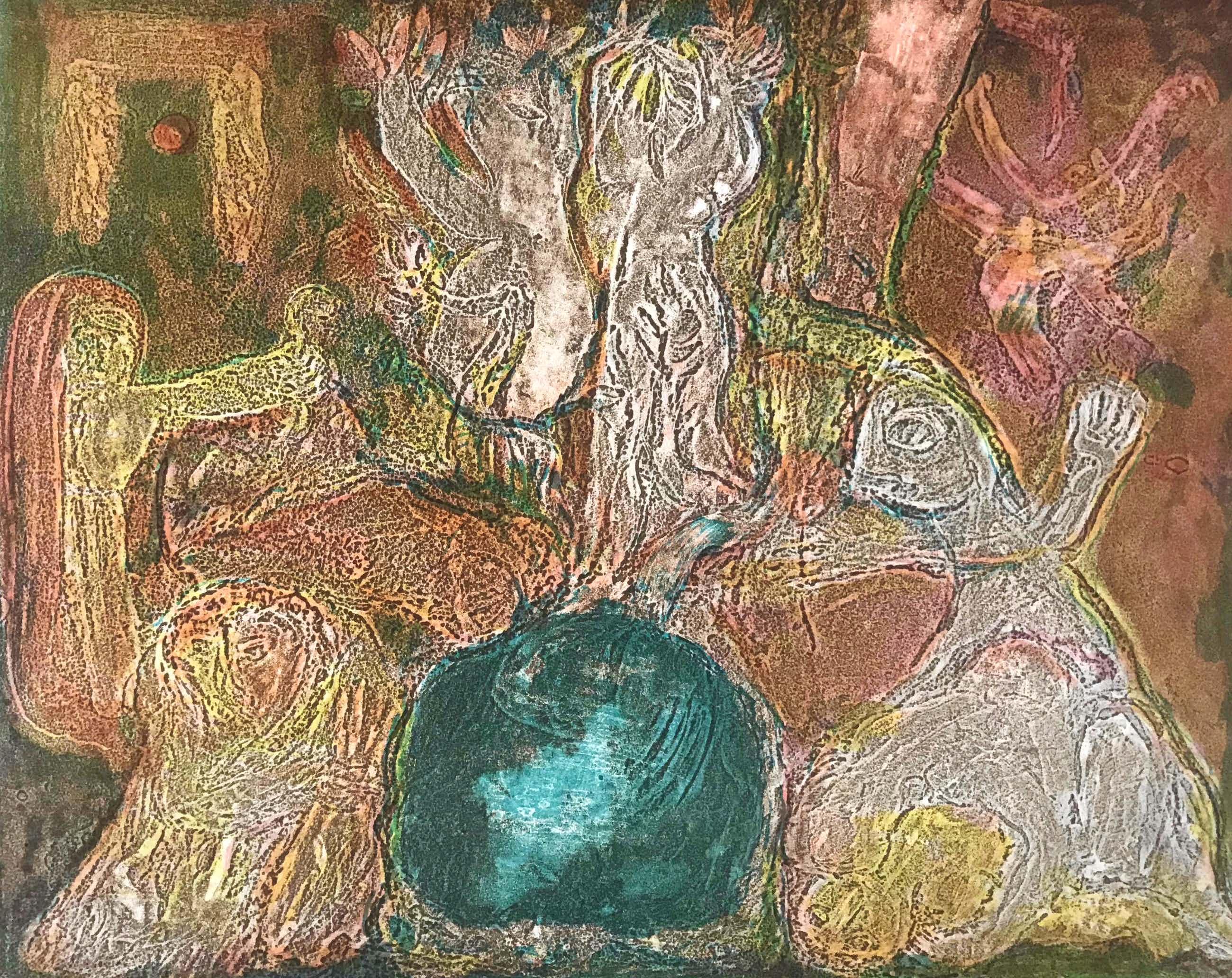 Reidar Magnus - Originele kleurenlitho - 1959 - Gesigneerd - 10/16 kopen? Bied vanaf 65!