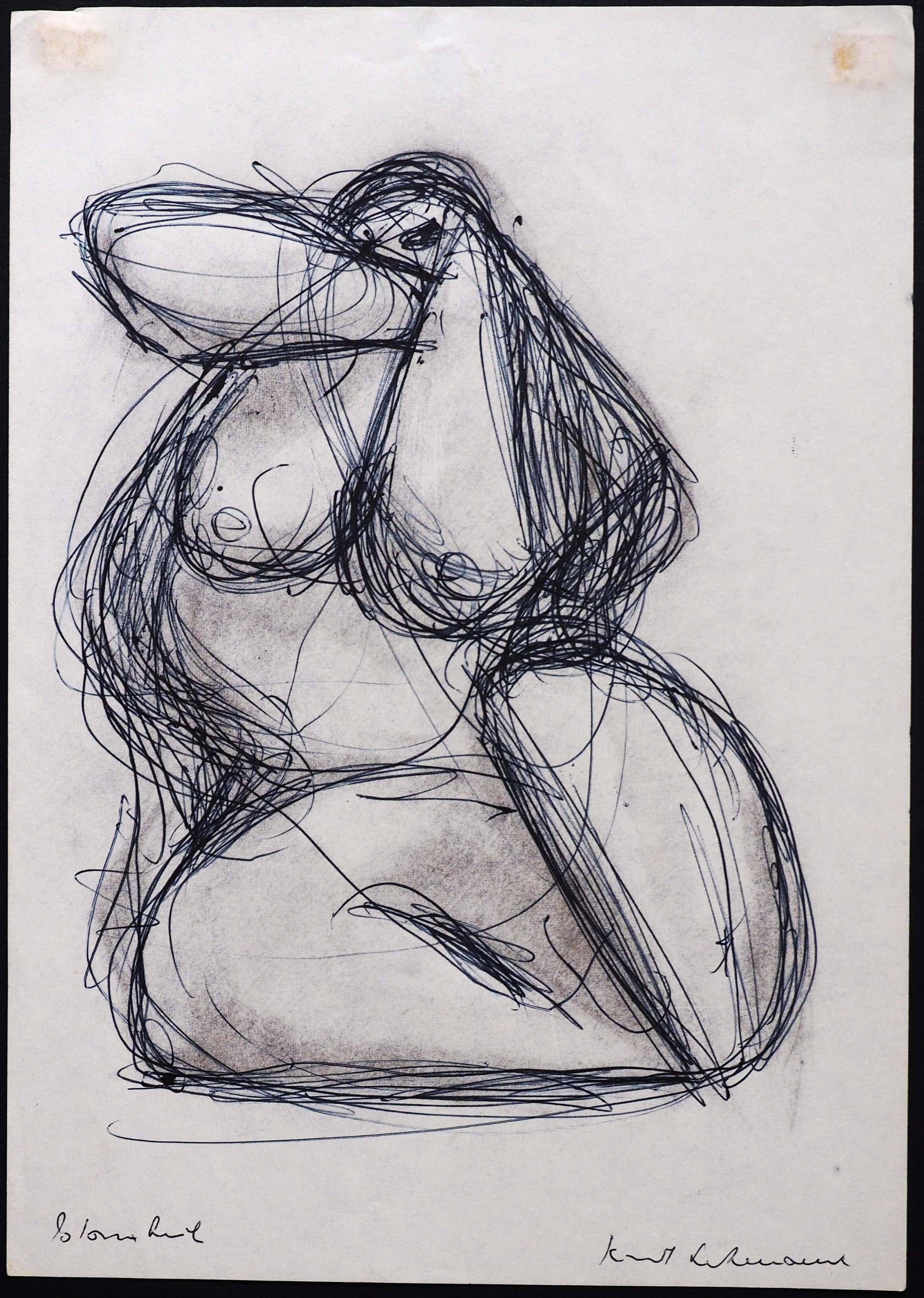 """Kurt Lehmann - Original Zeichnung """"Schönheit"""" kopen? Bied vanaf 300!"""