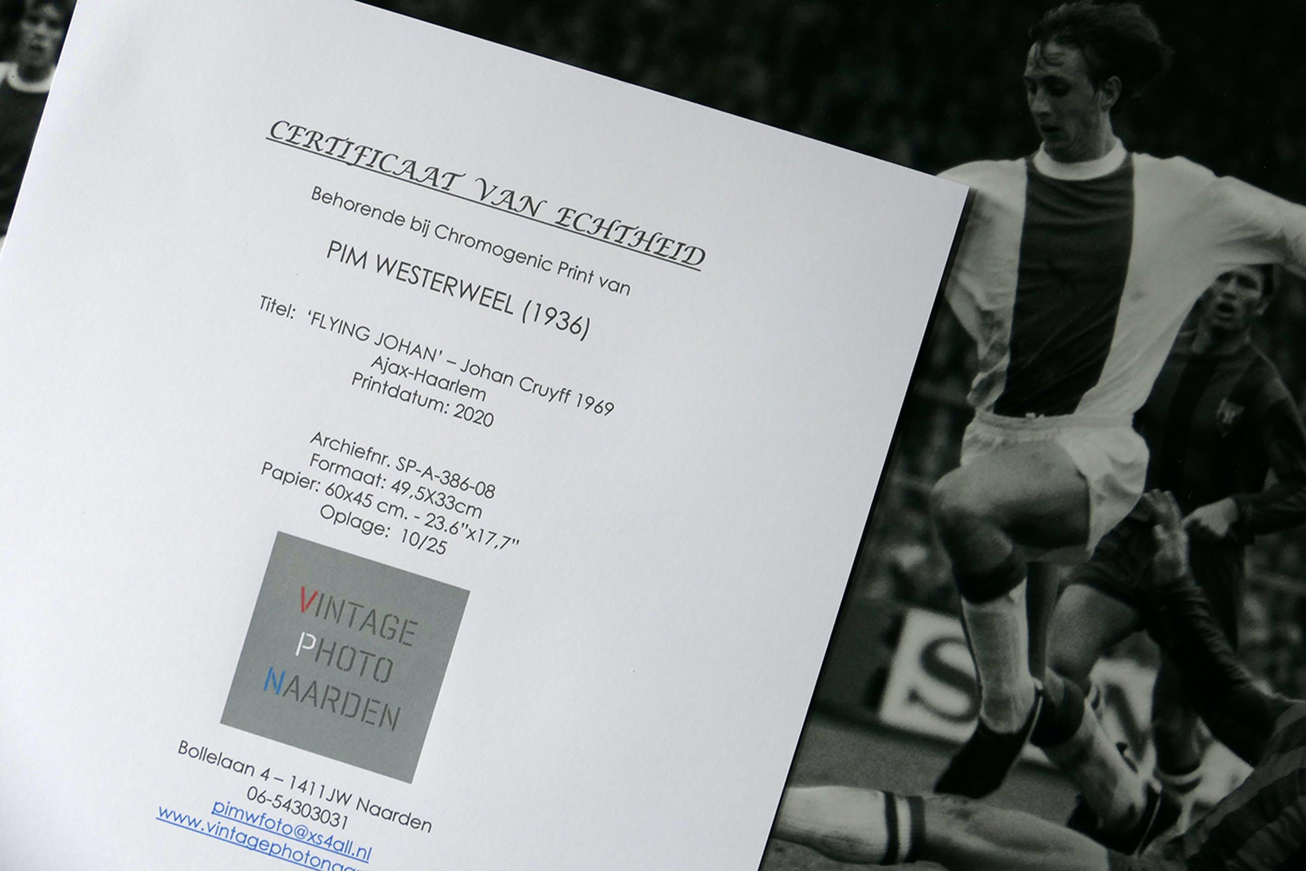Pim Westerweel - 'Flying Johan' - Johan Cruyff 1969 Ajax-Haarlem kopen? Bied vanaf 109!