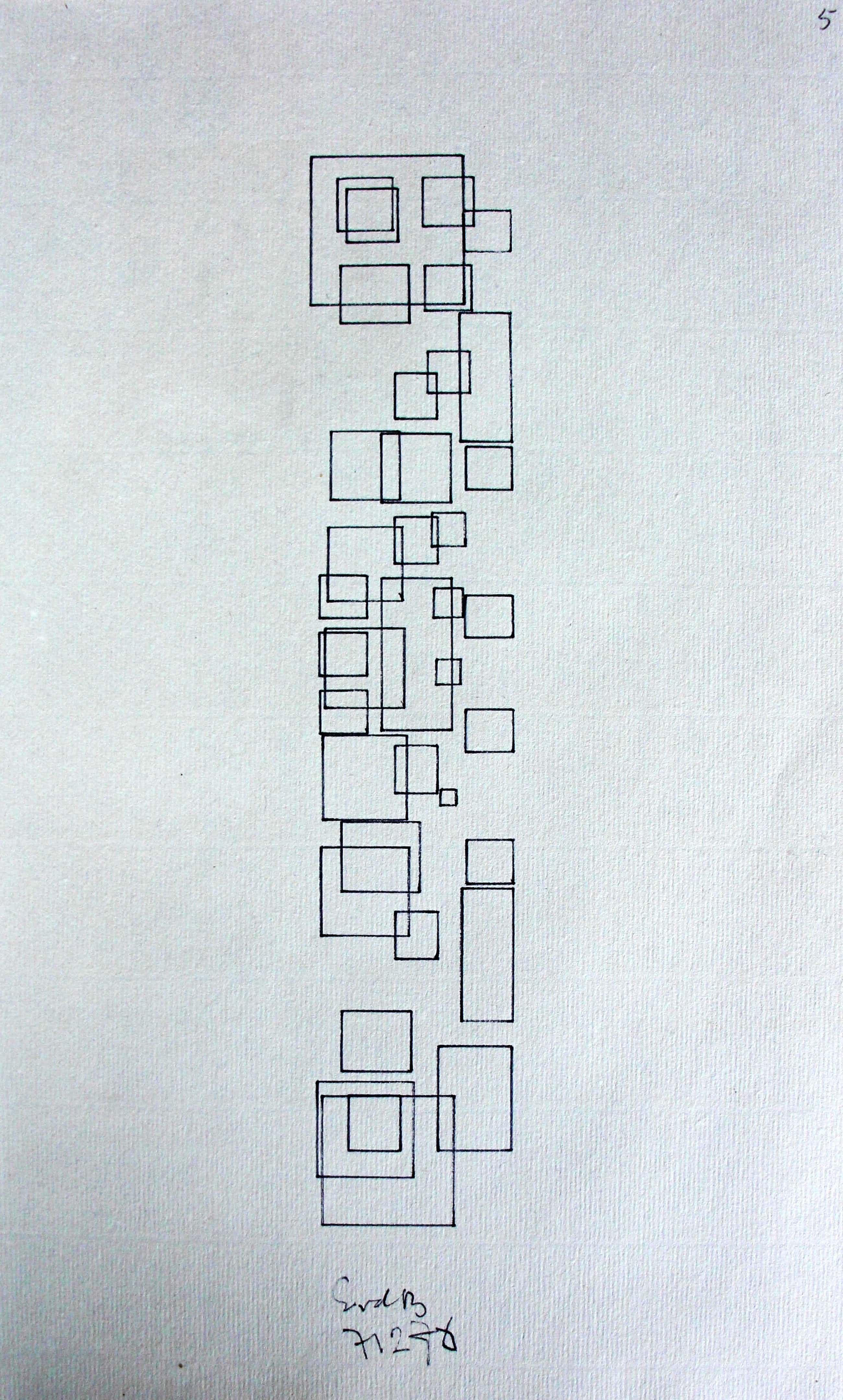 Siep van den Berg - pentekening - 1976 kopen? Bied vanaf 75!