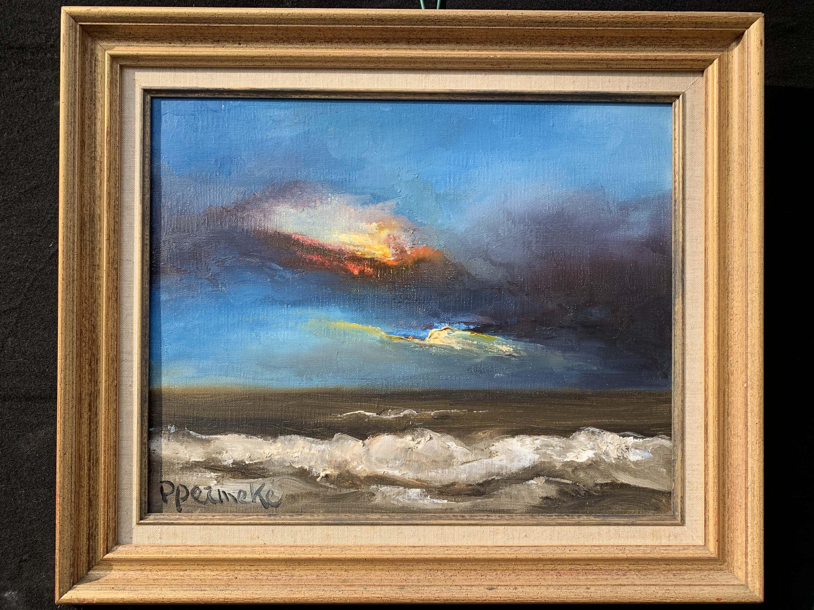Paul Permeke - Olieverf schilderij: onweer over zee kopen? Bied vanaf 650!