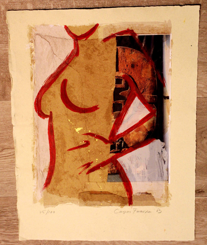 Casper Faassen - Zeefdruk/collage - gesigneerd - 2003 kopen? Bied vanaf 199!