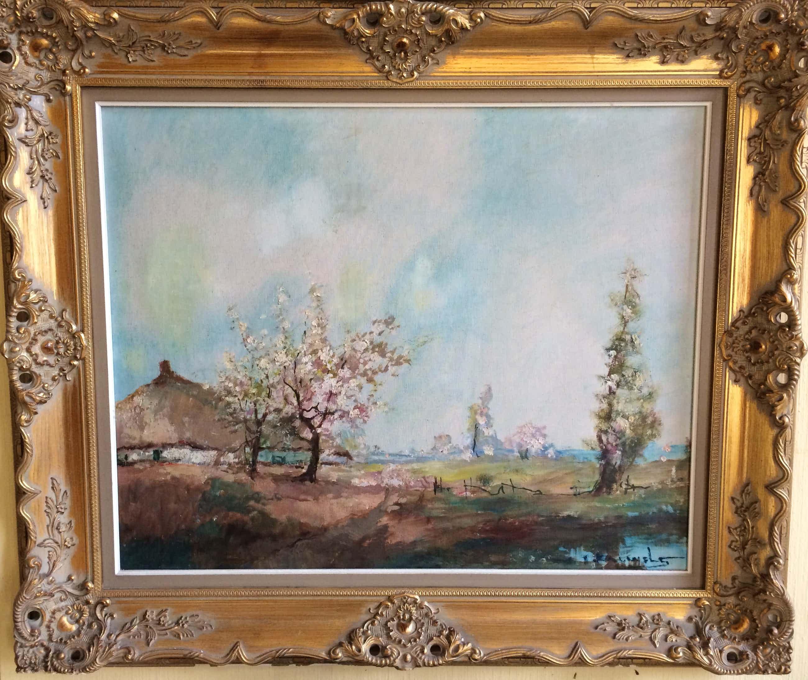 Henri Joseph Pauwels - Lente bloesem landschap kopen? Bied vanaf 69!