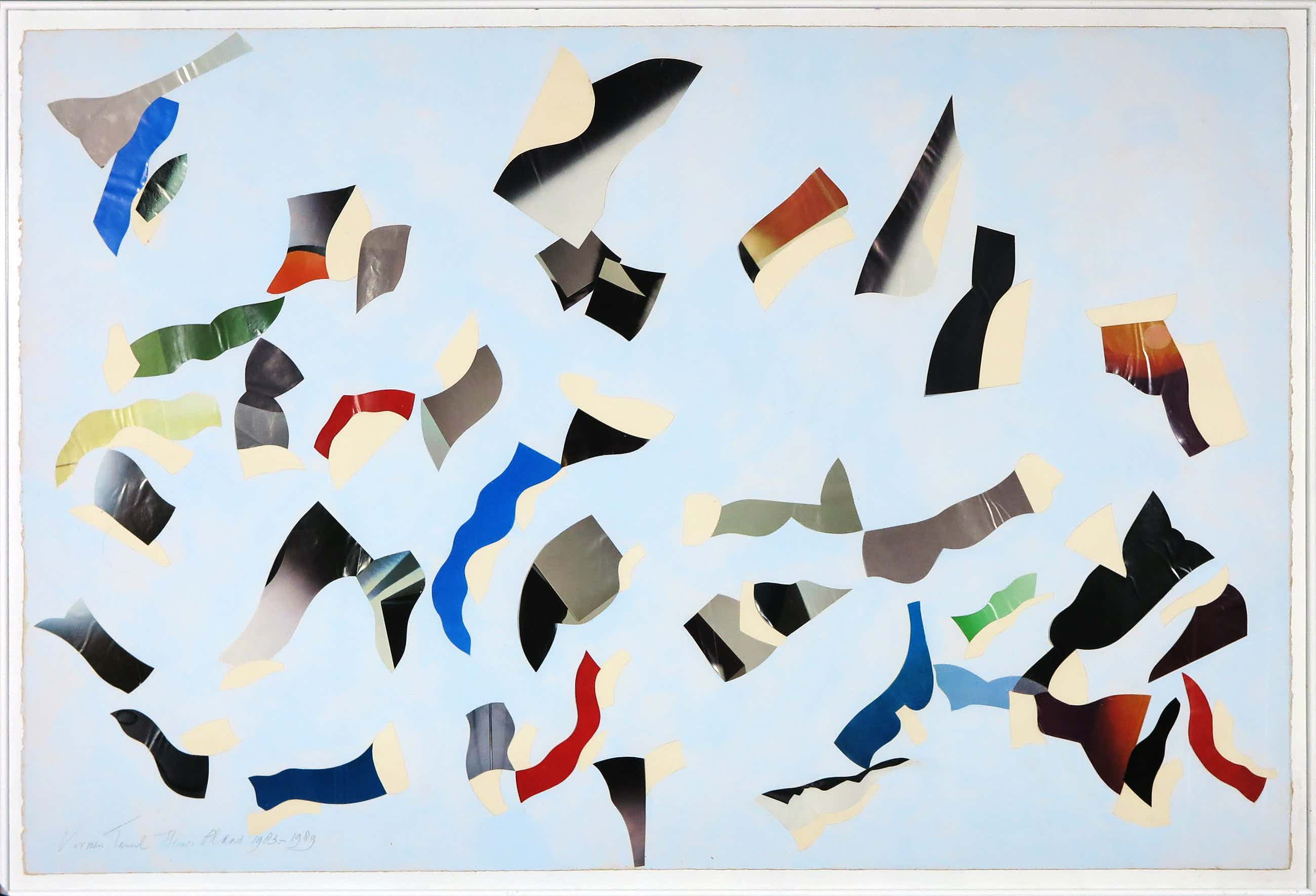 Henri Plaat - Collage, Zonder titel - Ingelijst (Groot) kopen? Bied vanaf 110!