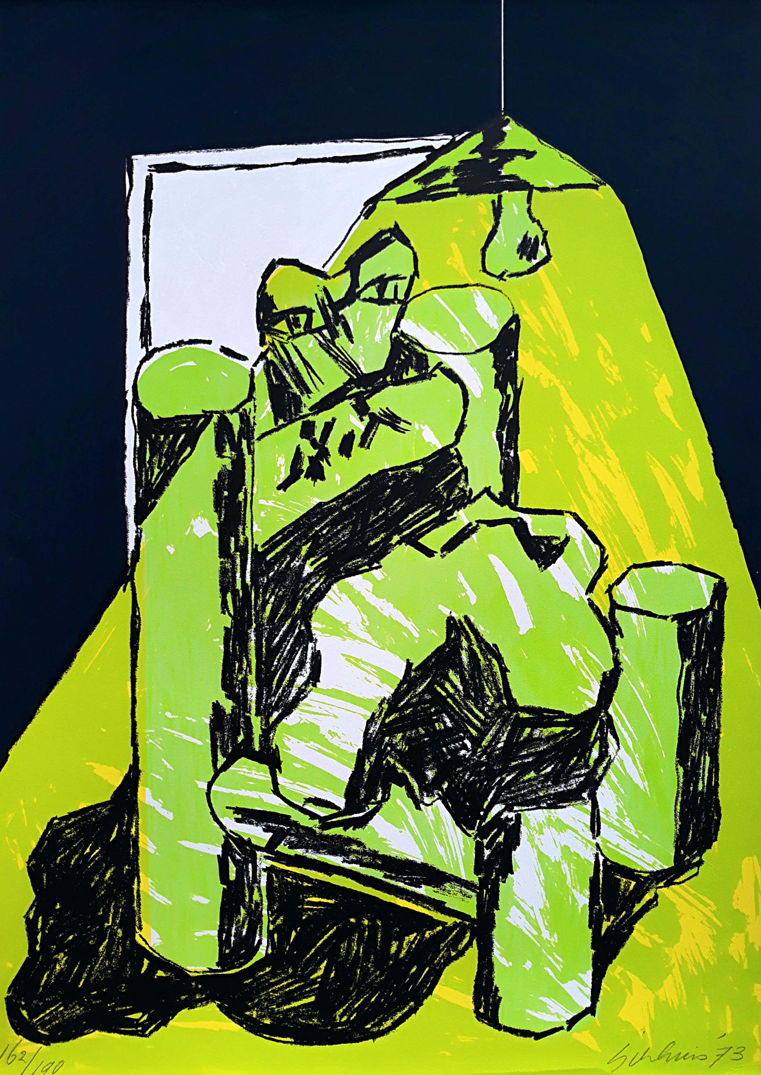 Jan Sierhuis - Hommage a Picasso, zeefdruk kopen? Bied vanaf 65!