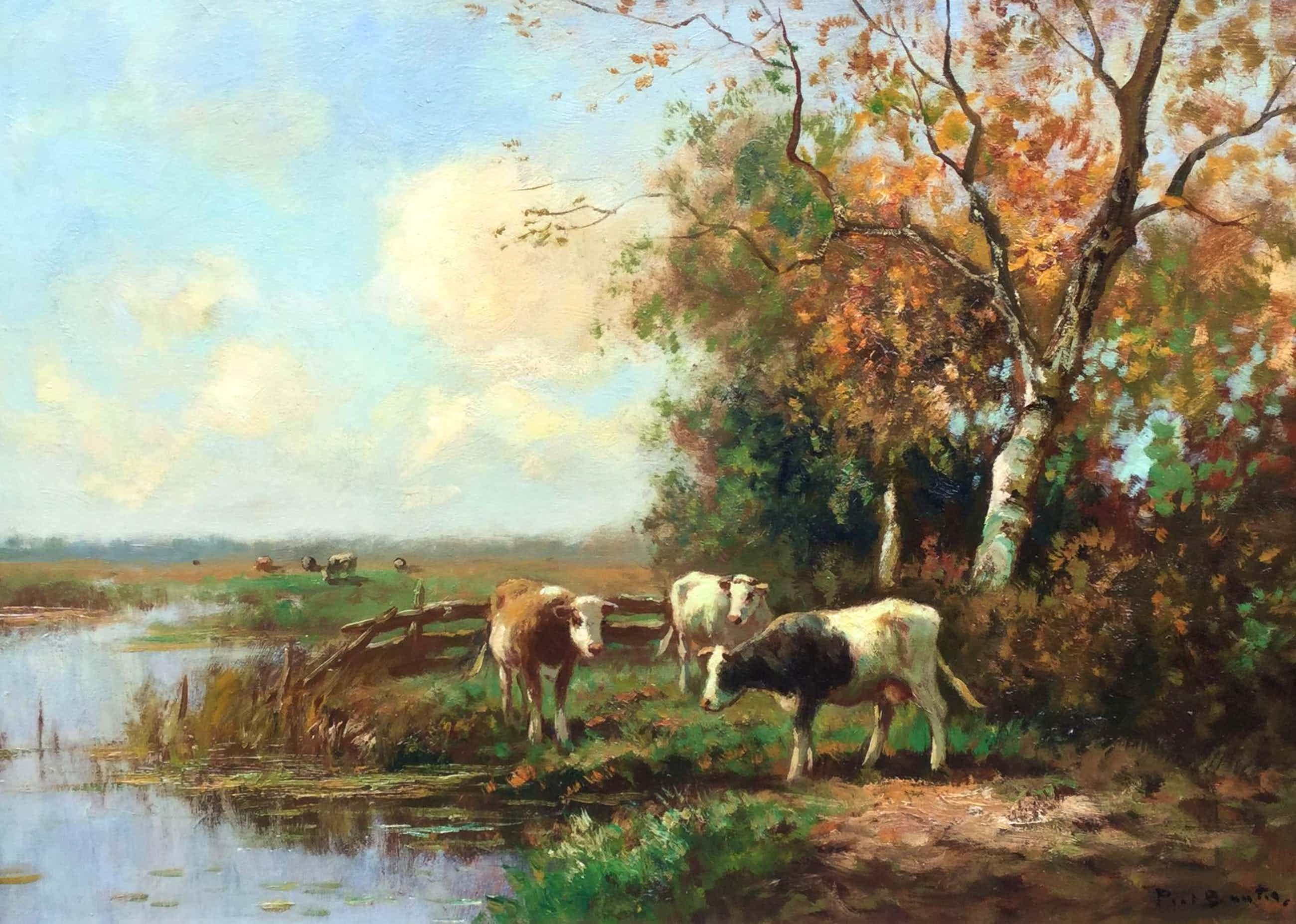 Piet Bouter - C4566, Koeien langs de vaart kopen? Bied vanaf 500!